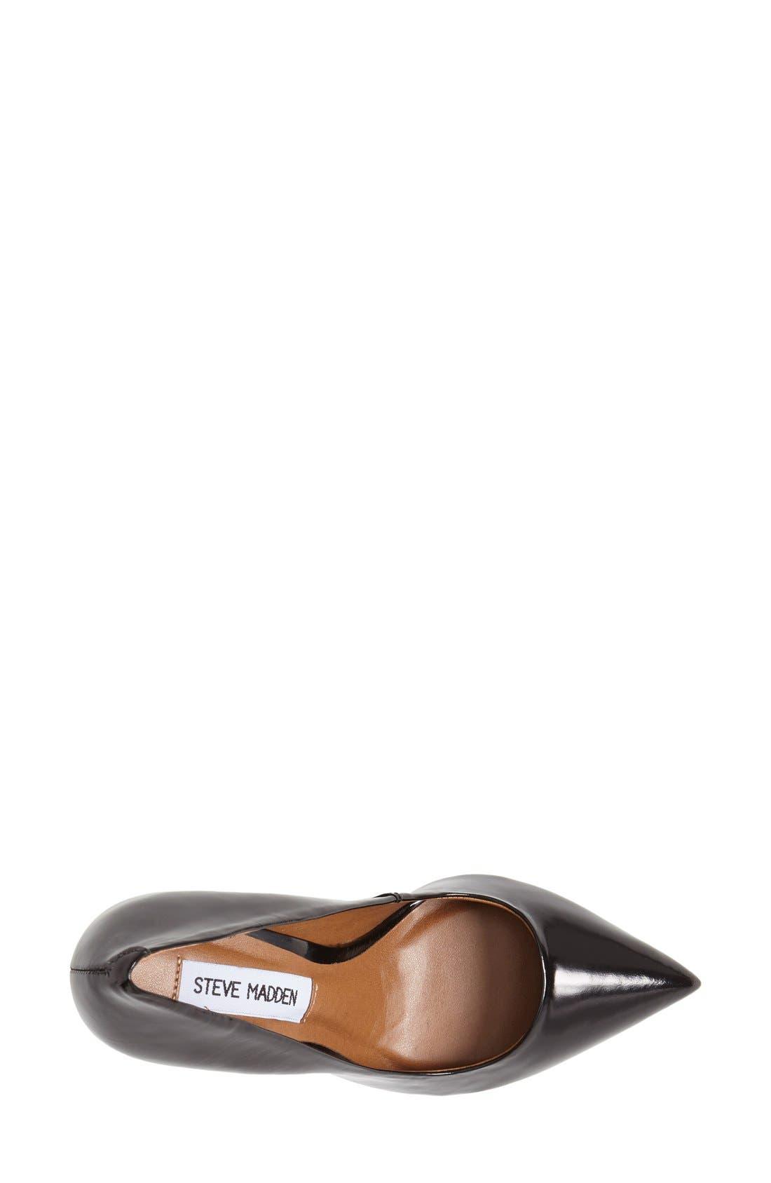 STEVE MADDEN, 'Proto' Pointy Toe Pump, Alternate thumbnail 3, color, 001
