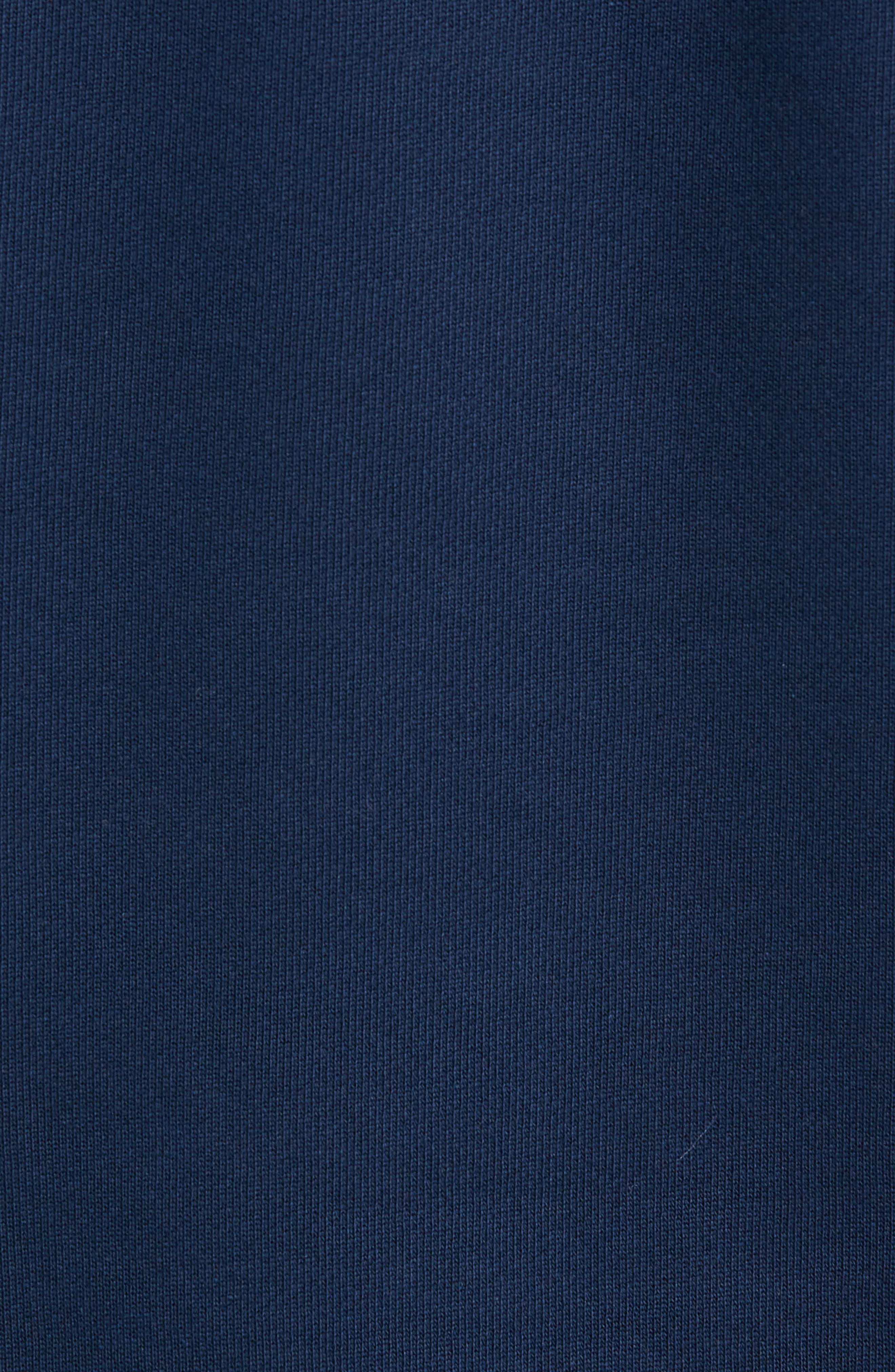 ADIDAS ORIGINALS, Camo Hooded Sweatshirt, Alternate thumbnail 5, color, COLLEGIATE NAVY