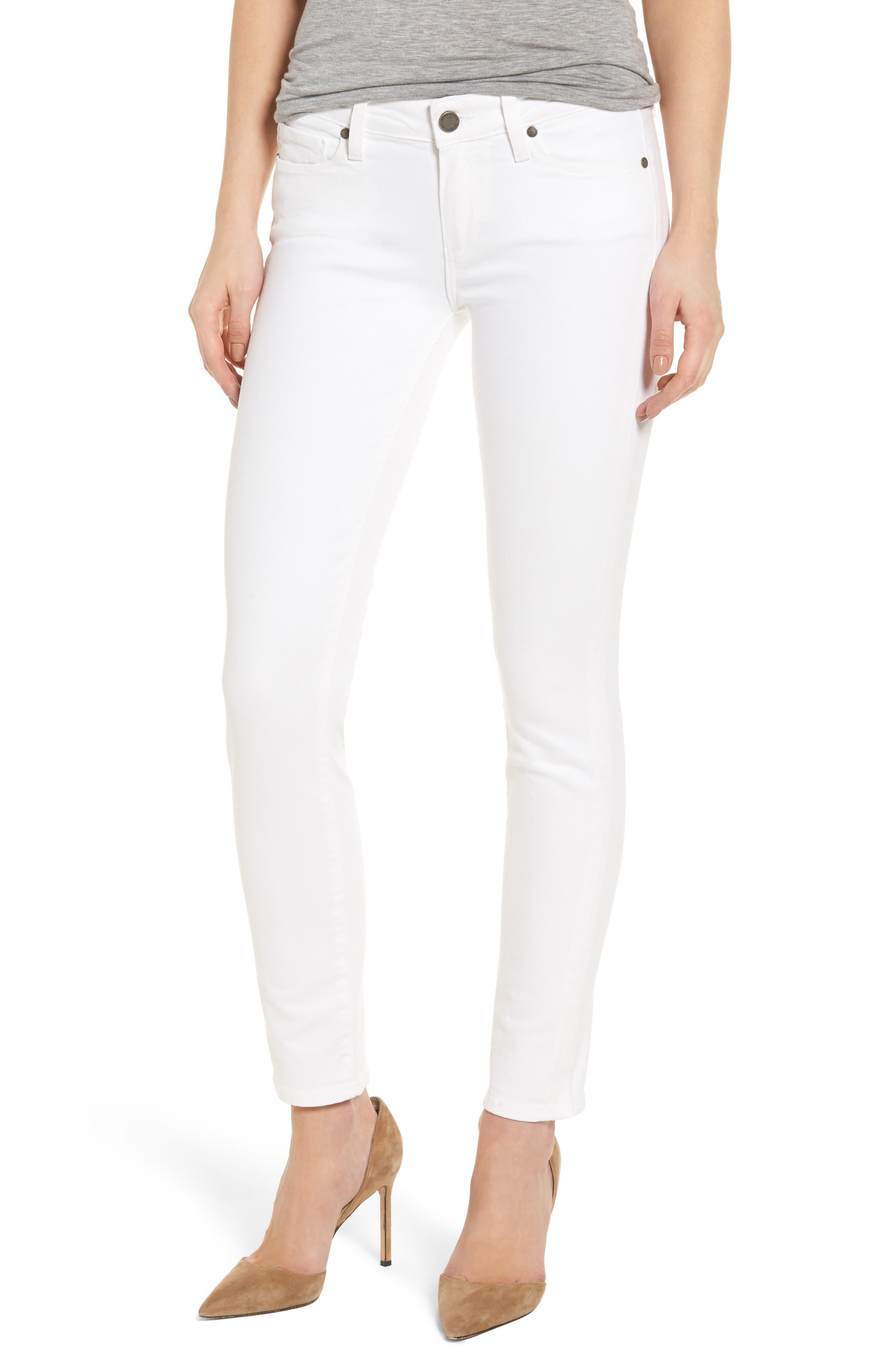 PAIGE 'Skyline' Ankle Peg Skinny Jeans, Main, color, 100