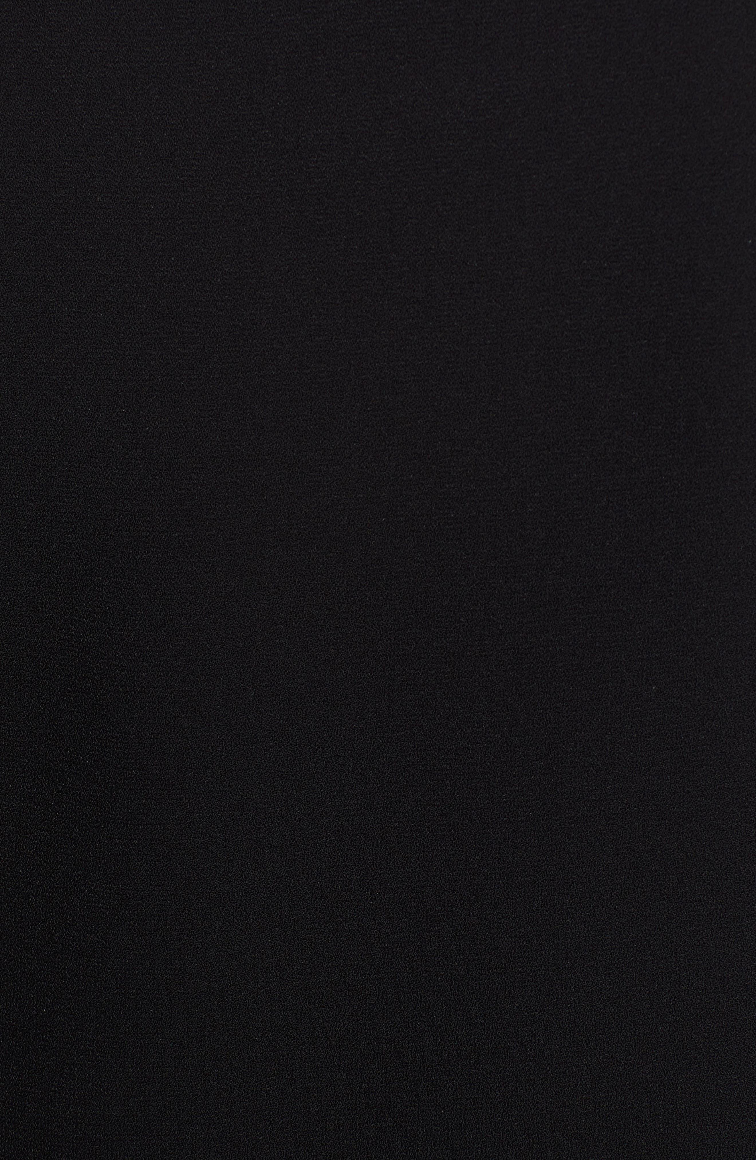 ANNE KLEIN, Scoop Neck Sleeveless Blouse, Alternate thumbnail 5, color, ANNE BLACK