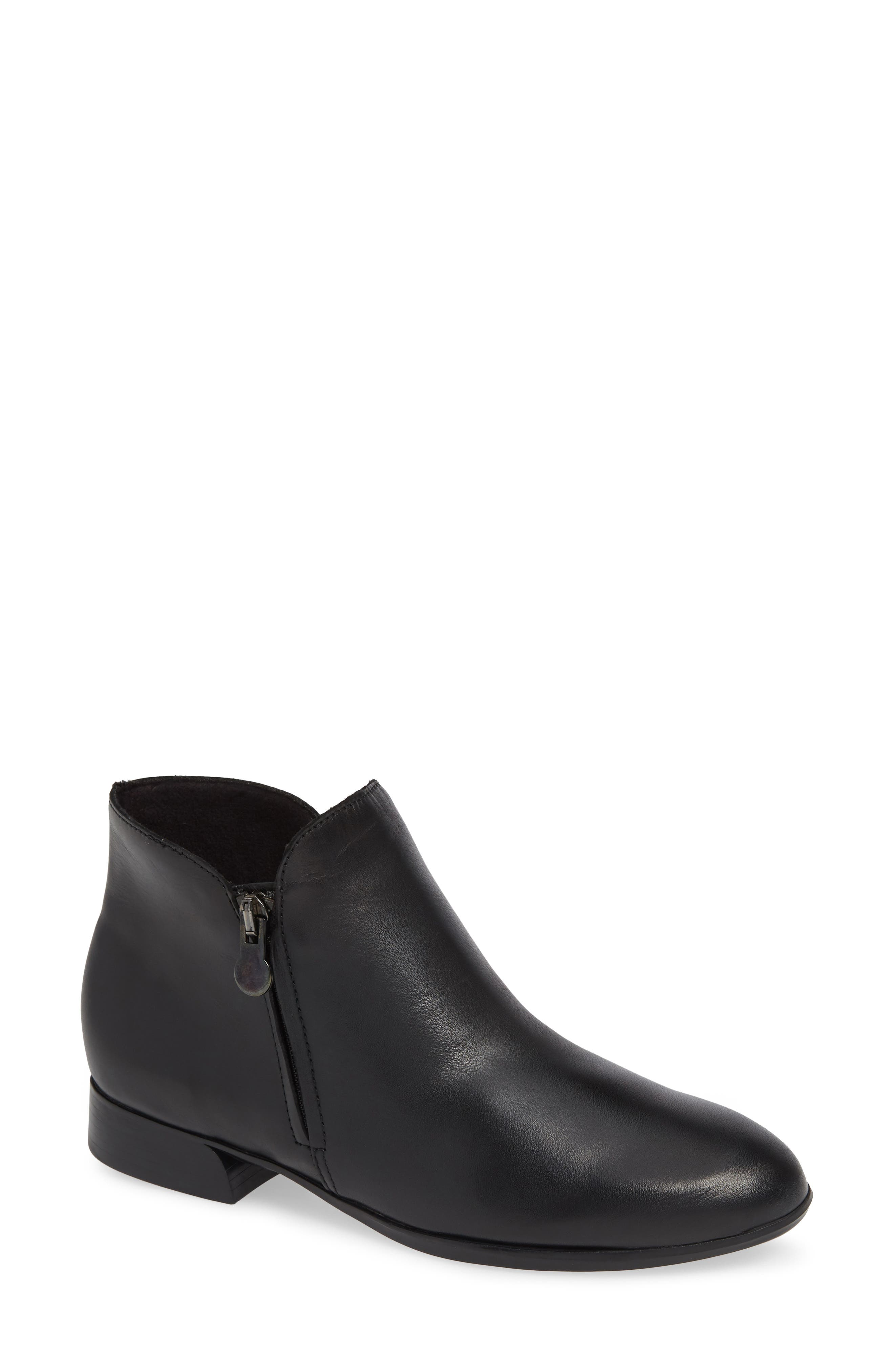 MUNRO, Averee Bootie, Main thumbnail 1, color, BLACK LEATHER