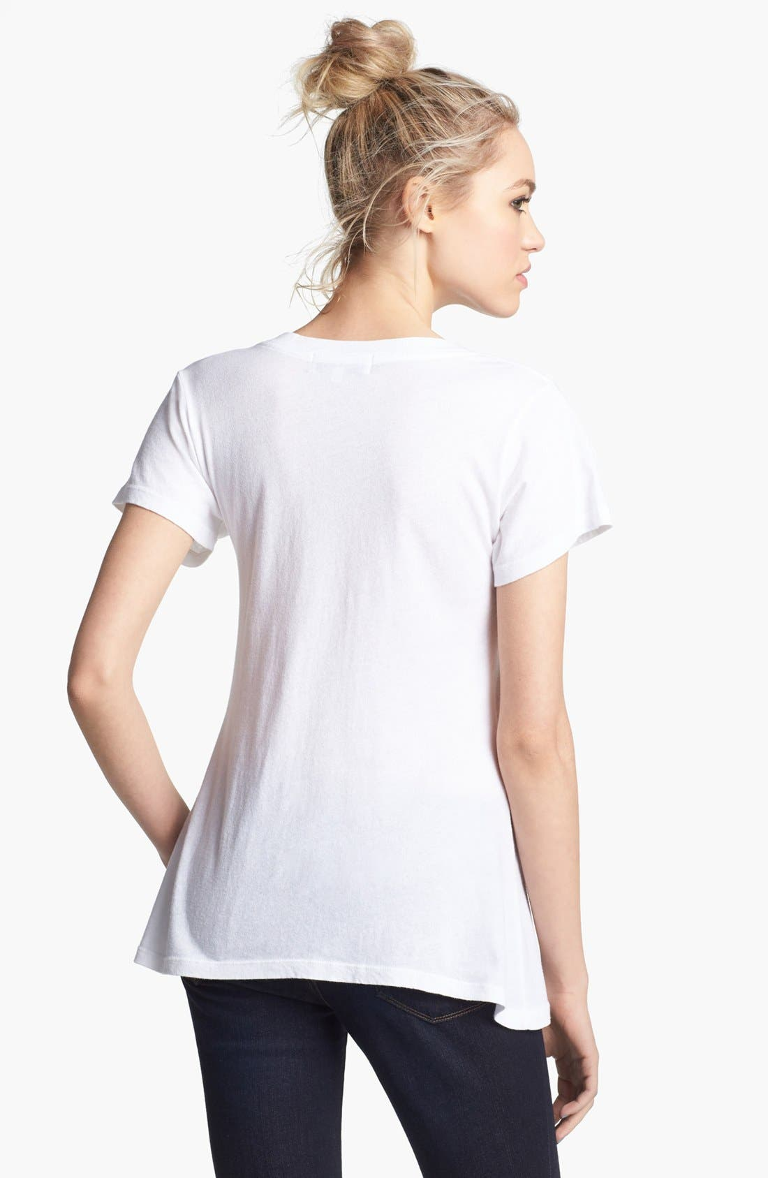 WILDFOX, 'NYC 4 Lovers' V-Neck Tee, Alternate thumbnail 2, color, 101