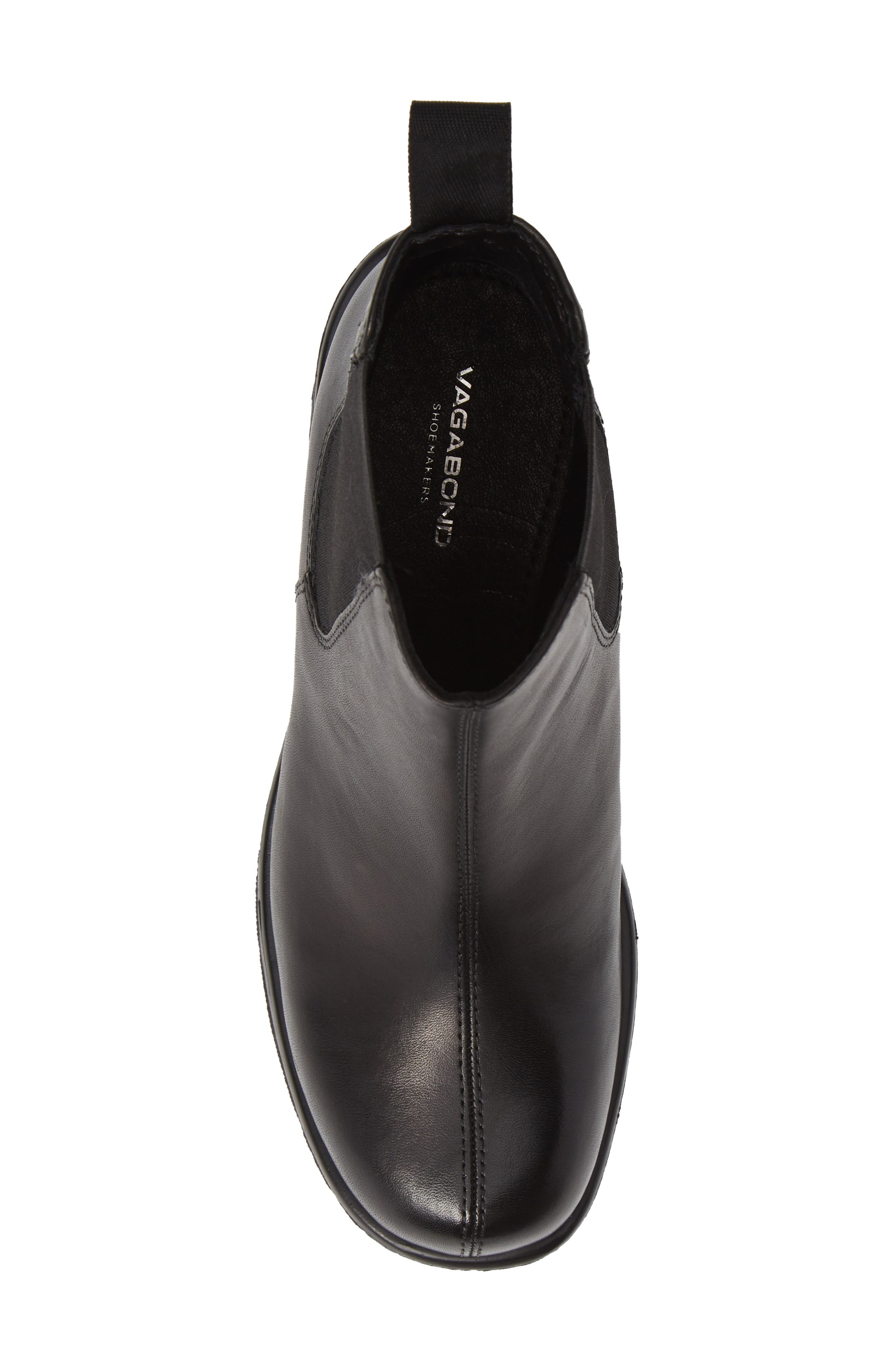 VAGABOND, Shoemakers Dioon Platform Chelsea Bootie, Alternate thumbnail 5, color, BLACK LEATHER