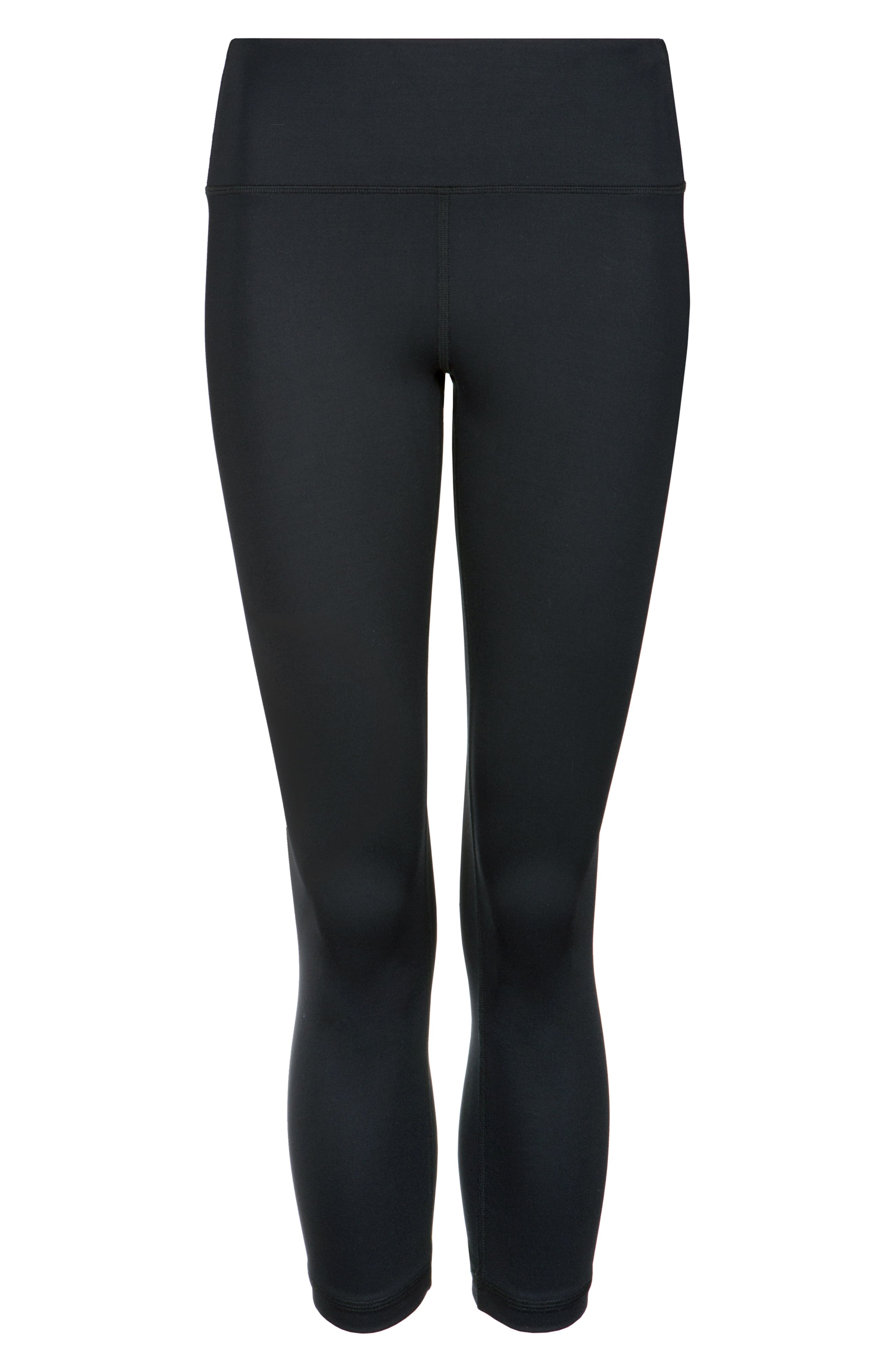 LIVELY, The Active High Waist Crop Leggings, Alternate thumbnail 5, color, JET BLACK