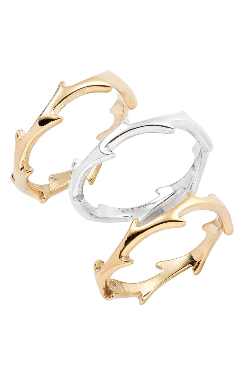 Argento Vivo Accessories X DRU. SET OF 3 THORN RINGS (NORDSTROM EXCLUSIVE)