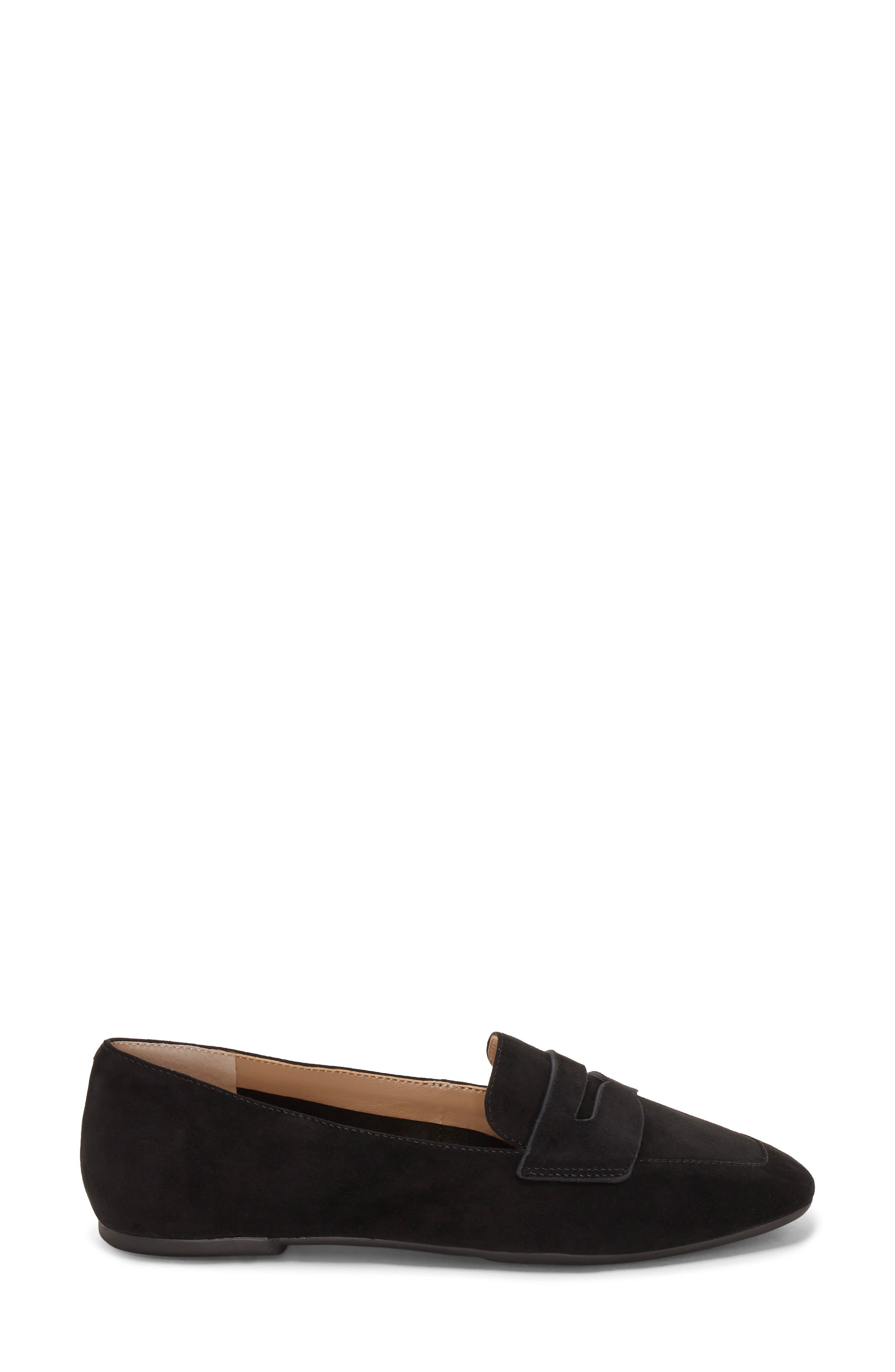 ENZO ANGIOLINI, Leeba Loafer, Alternate thumbnail 3, color, BLACK SUEDE