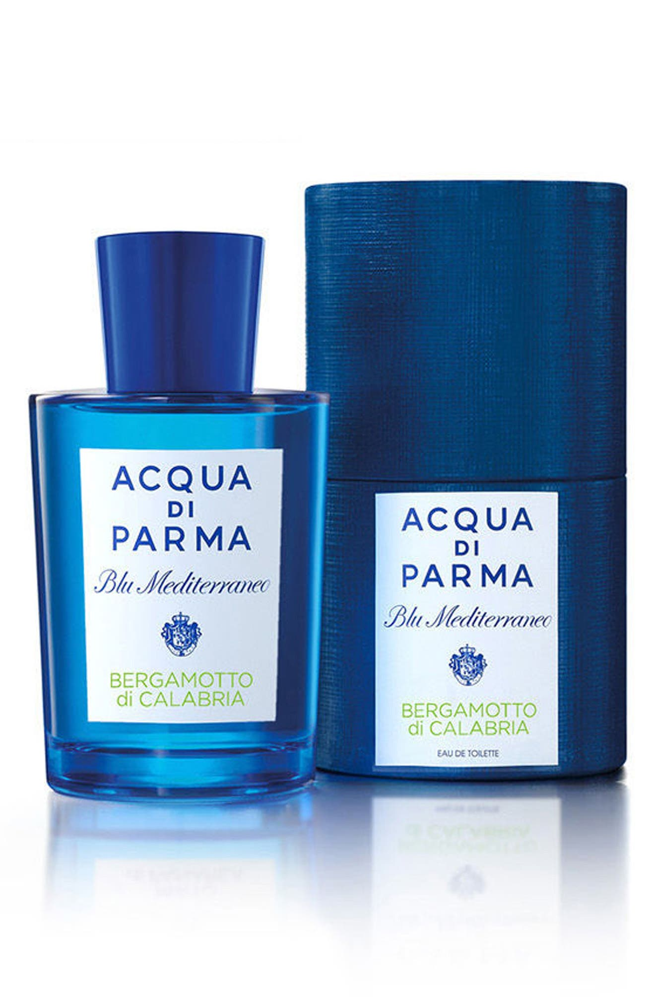 ACQUA DI PARMA, 'Blu Mediterraneo' Bergamotto di Calabria Eau de Toilette Spray, Alternate thumbnail 4, color, NO COLOR