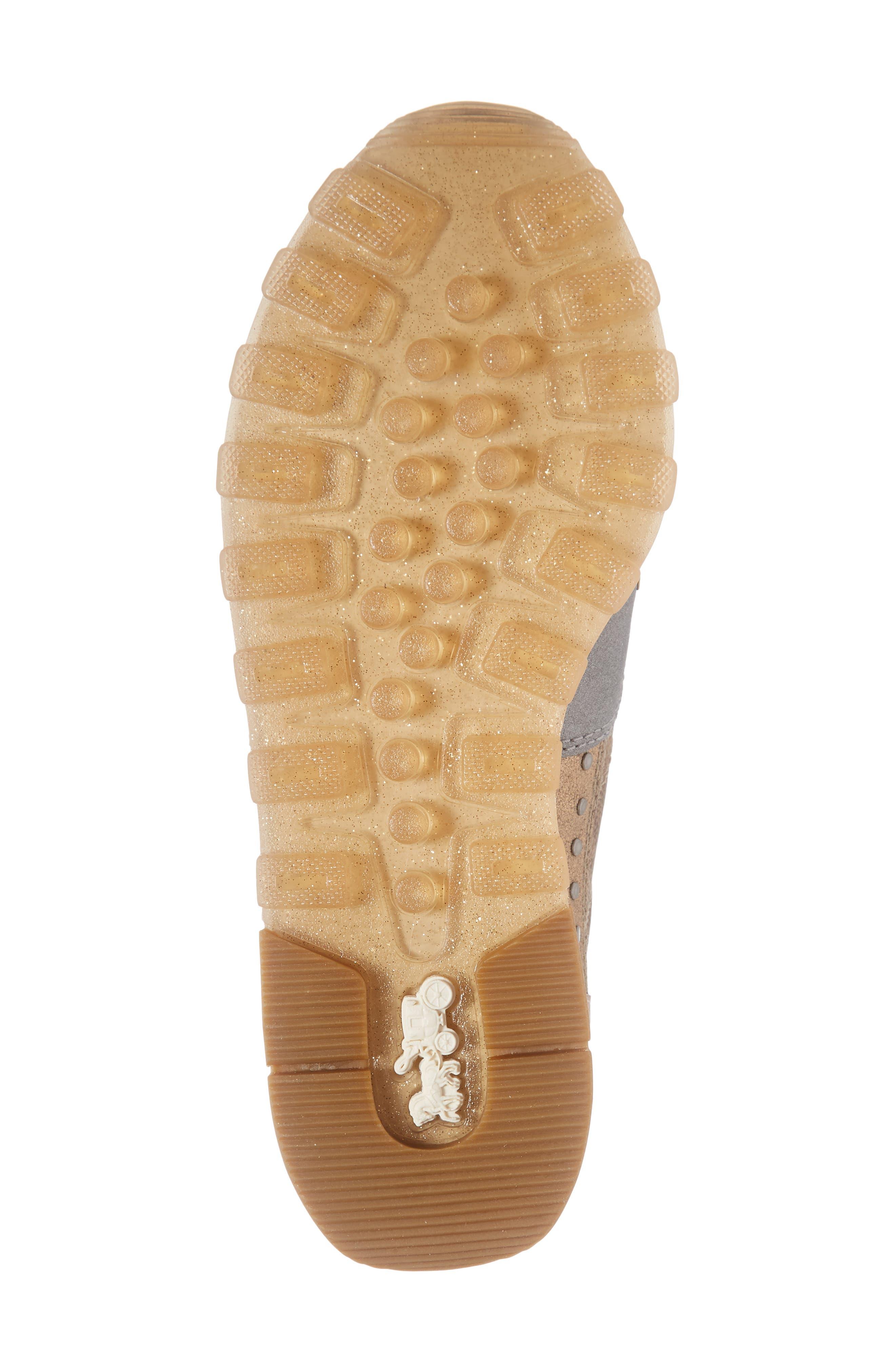 COACH, C118 Studded Sneaker, Alternate thumbnail 5, color, TAN/ GOLD MULTI