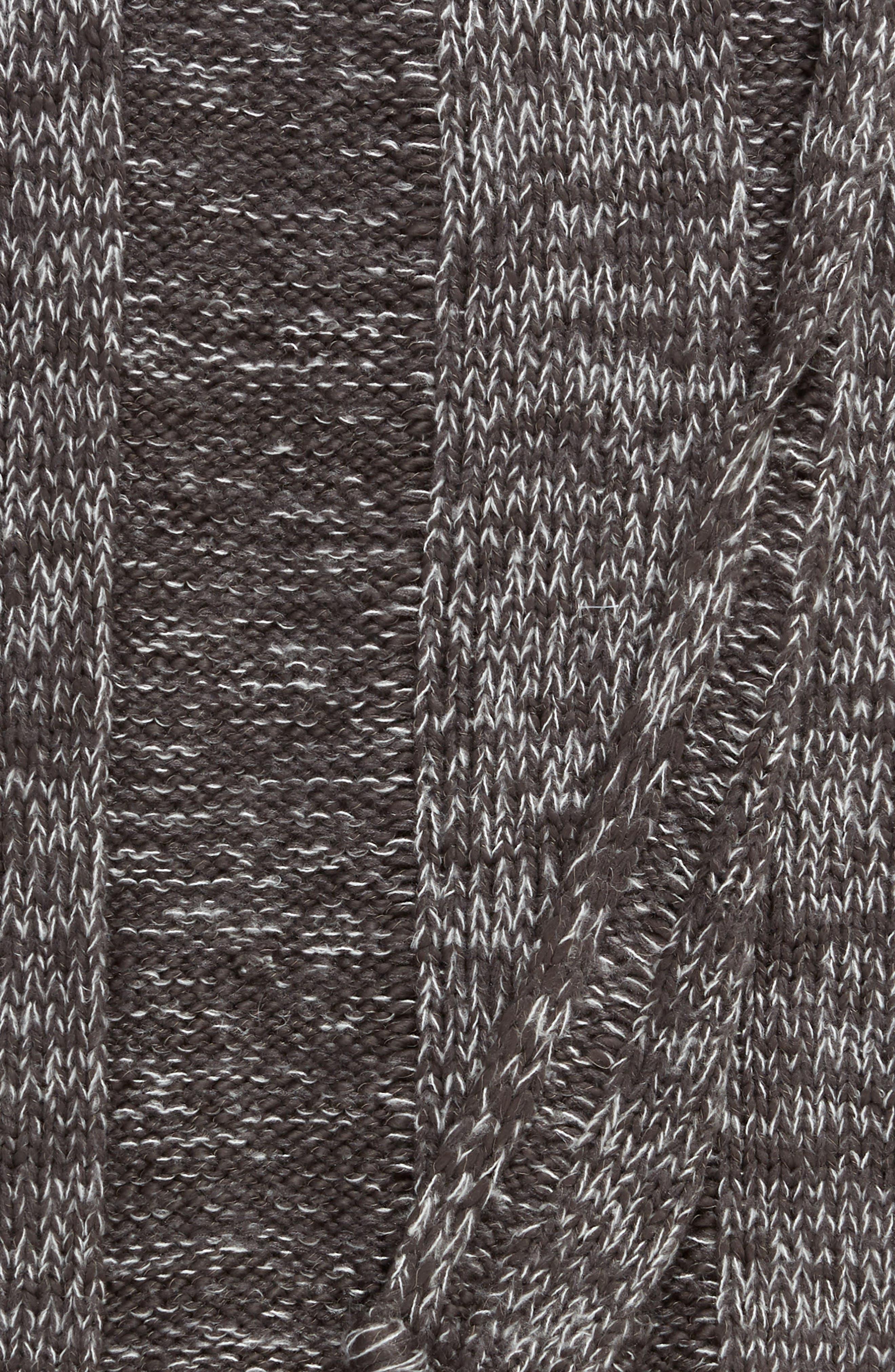 TREASURE & BOND, Fringe Knit Throw, Alternate thumbnail 2, color, GREY ONYX