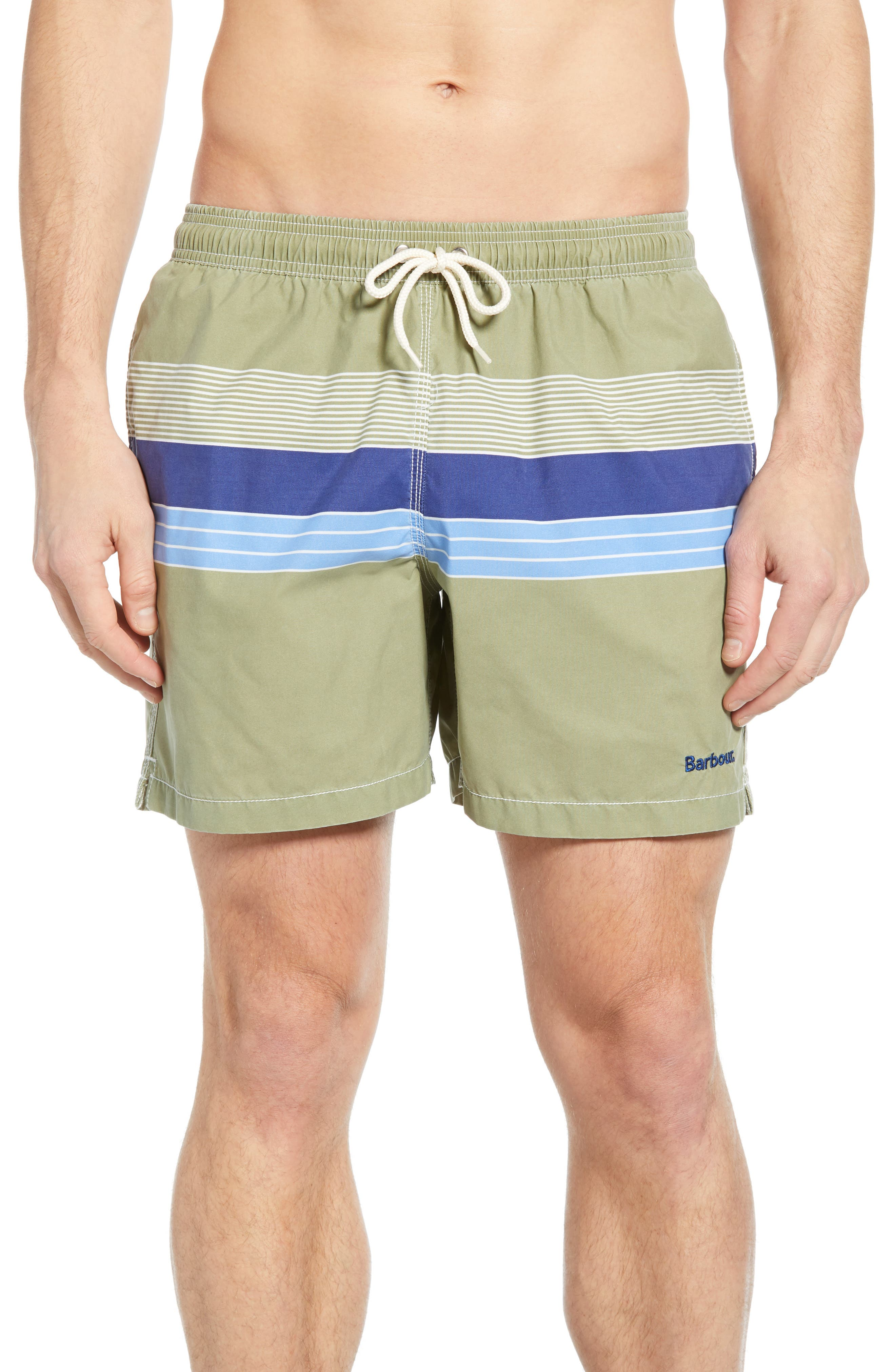 BARBOUR Rydal Swim Trunks, Main, color, OLIVE