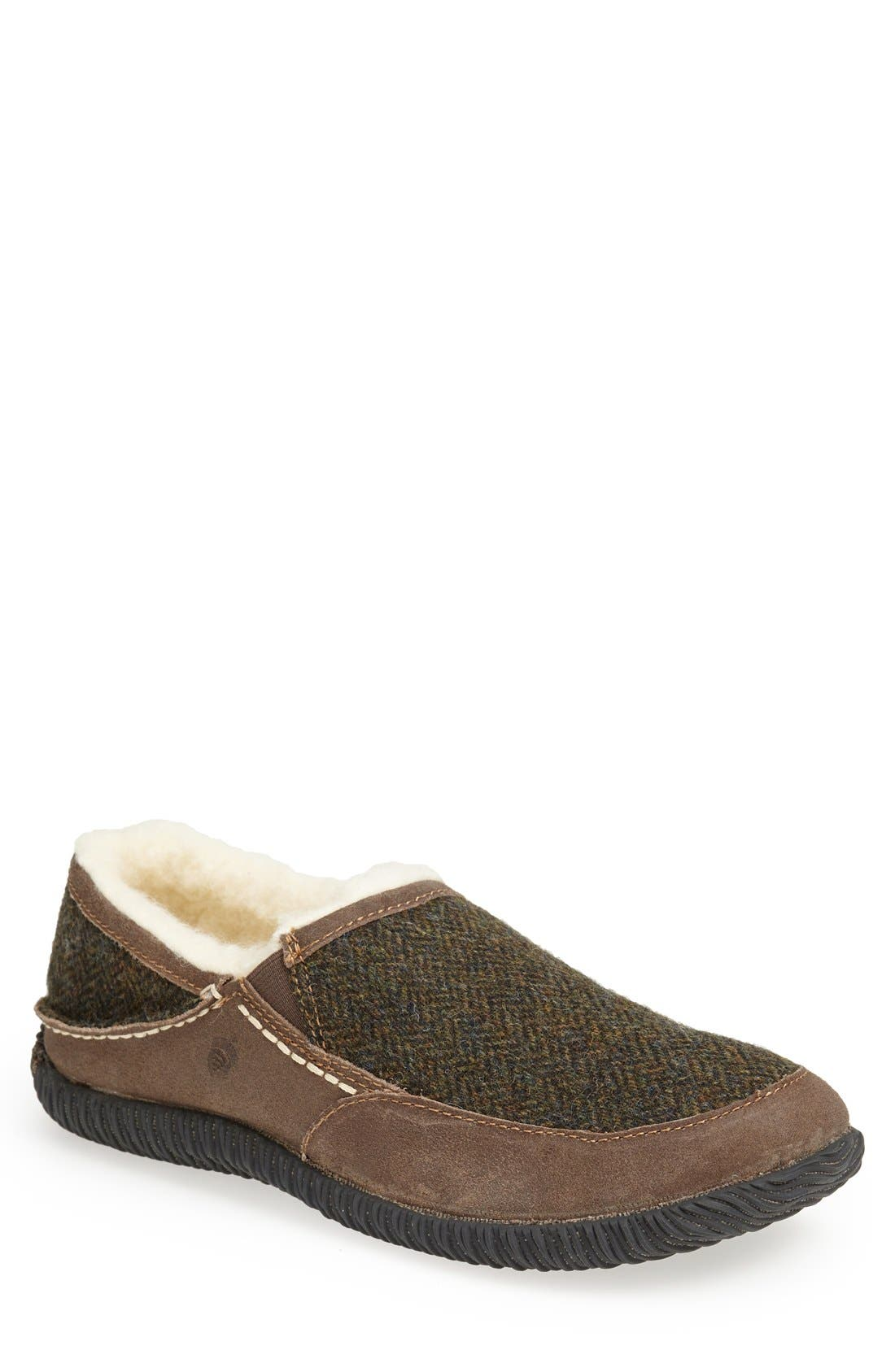 ACORN 'Rambler' Moc Toe Slipper, Main, color, OLIVE TWEED