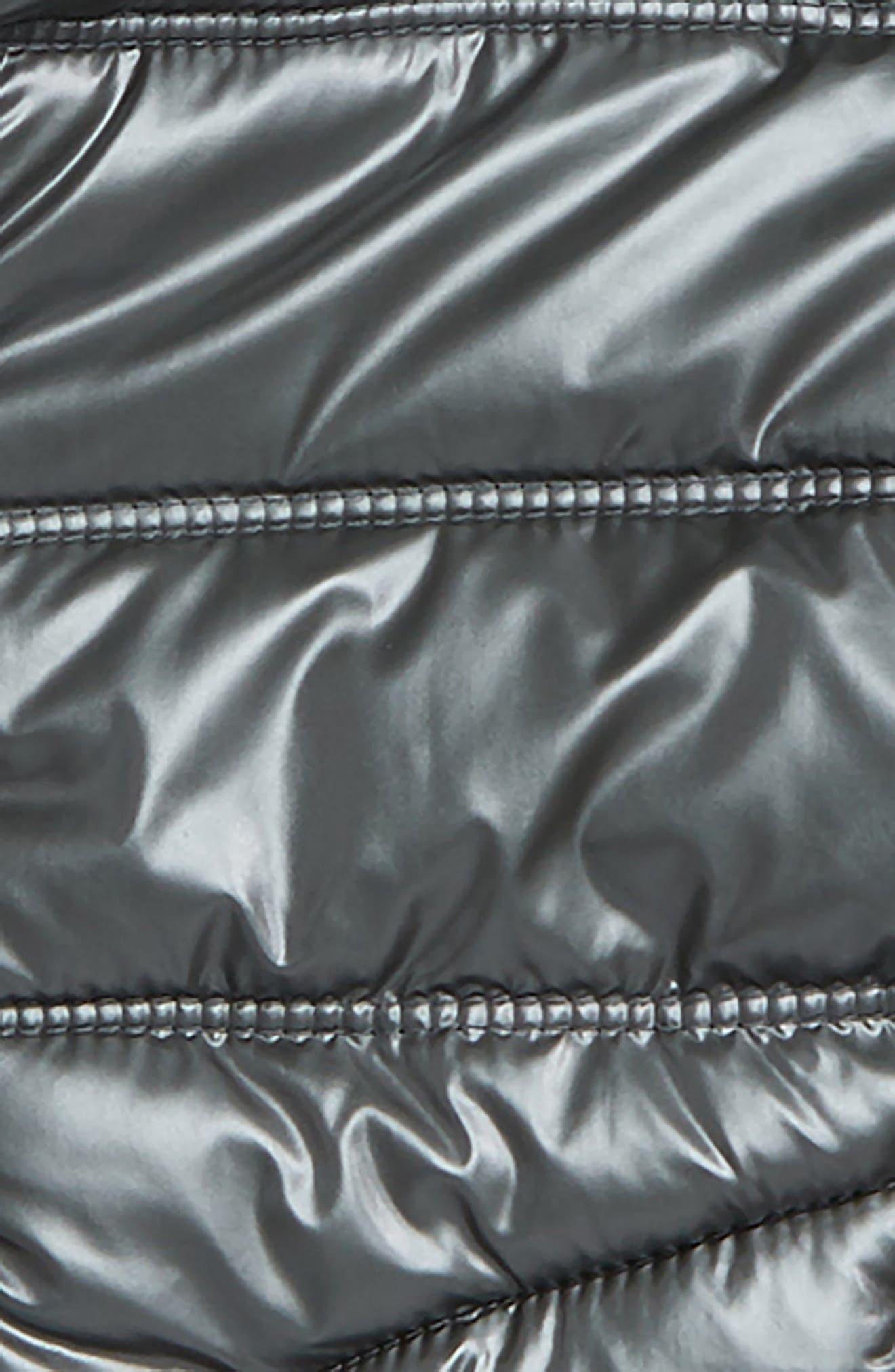 MINI BODEN, Padded Hooded Jacket, Alternate thumbnail 2, color, GREY