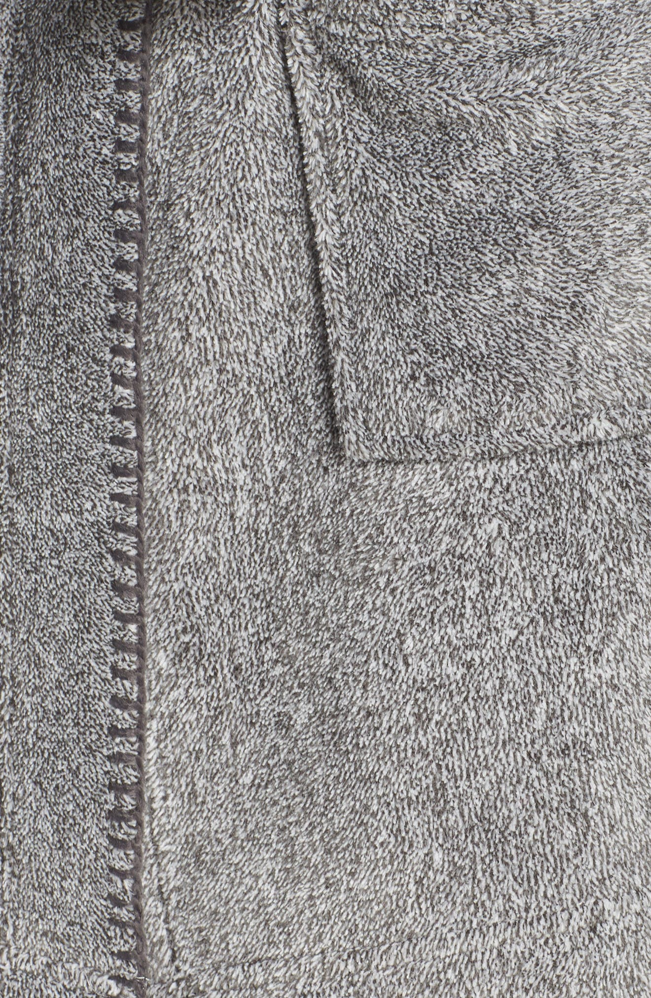 MAKE + MODEL, Starry Night Plush Short Robe, Alternate thumbnail 5, color, 022