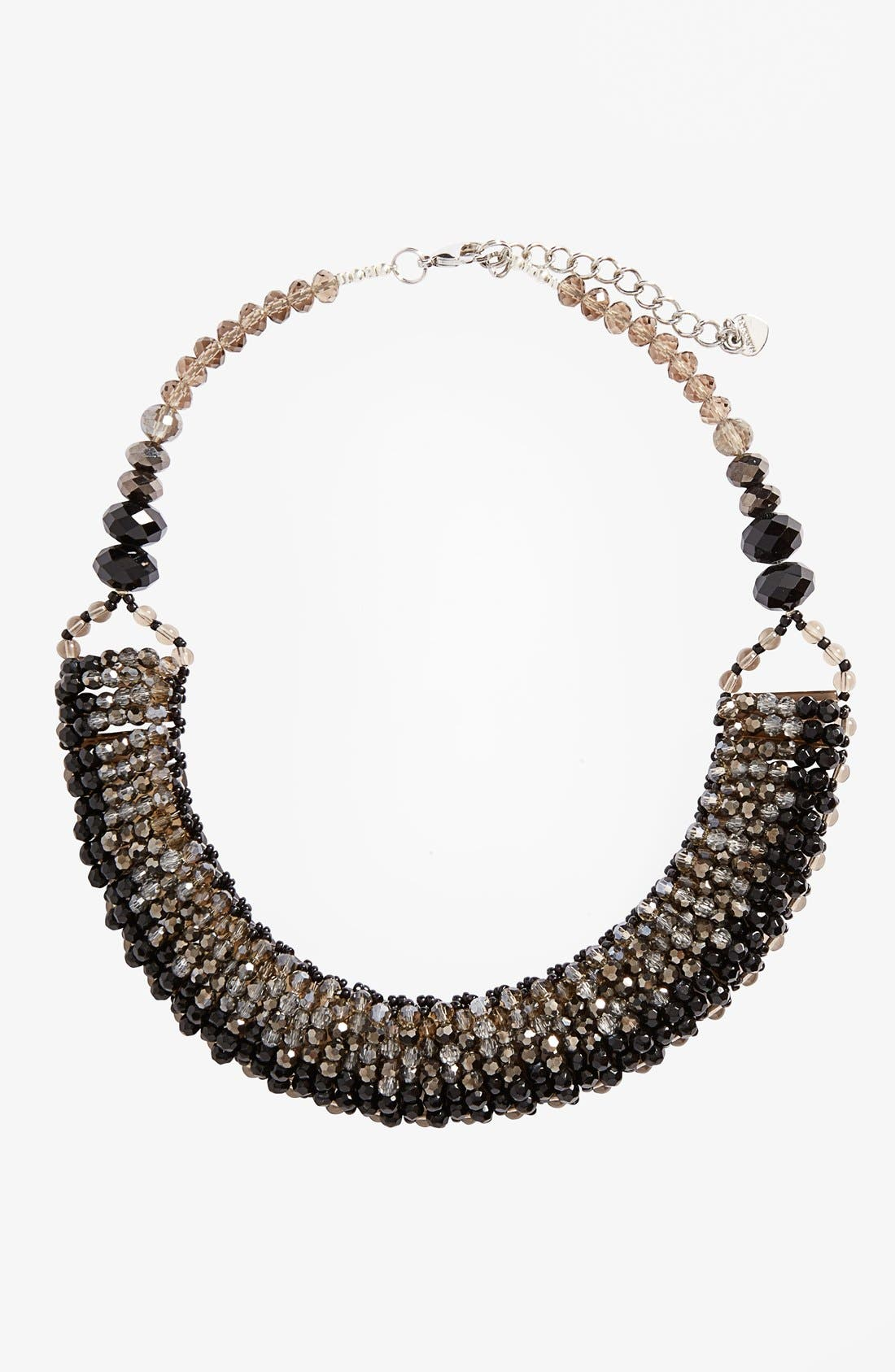 NAKAMOL DESIGN, 'Half Line Couture' Collar Necklace, Main thumbnail 1, color, 001