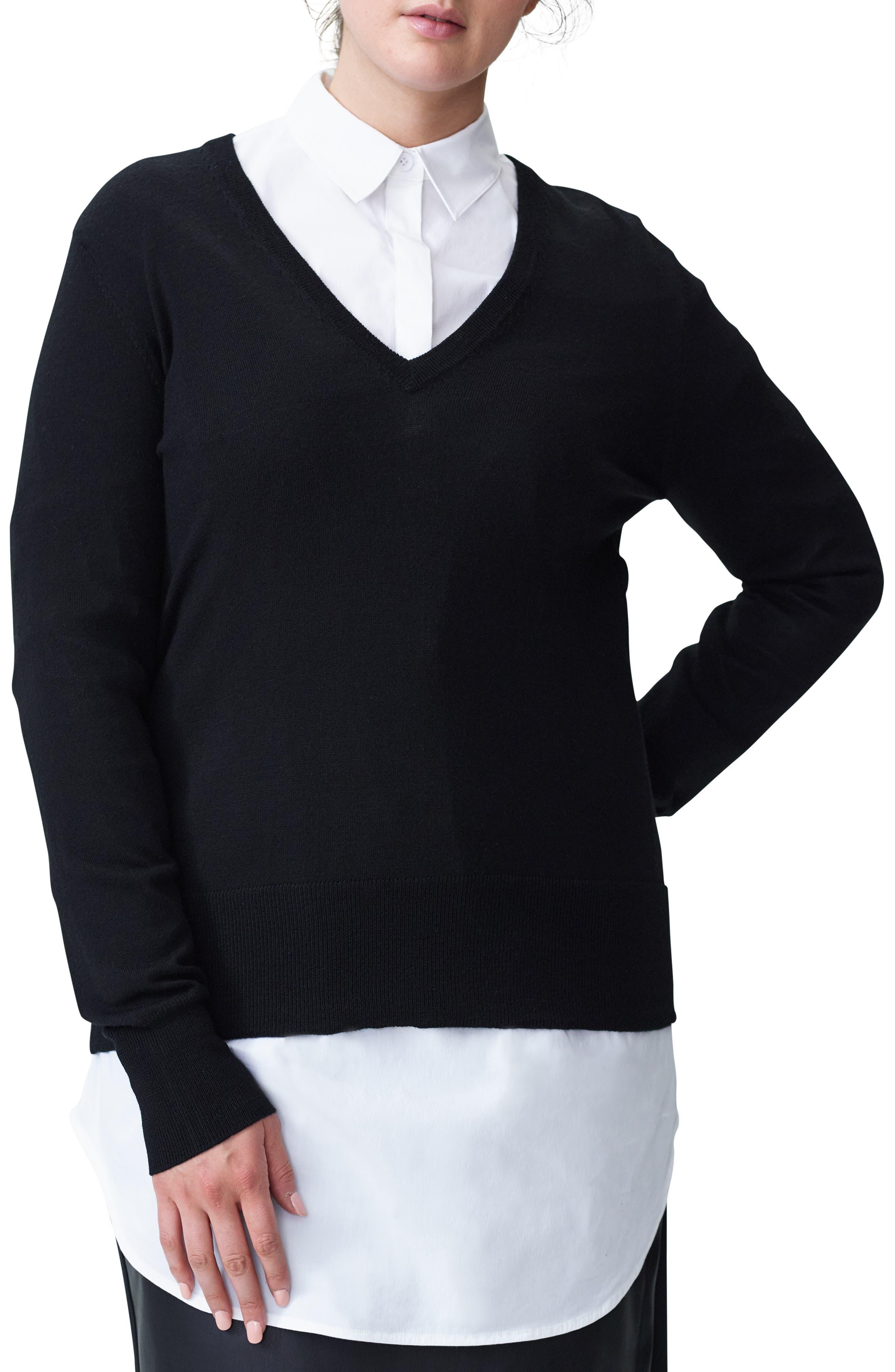 Plus Size Universal Standard Phebe Wool Sweater, Size M (18W-20W) - Black