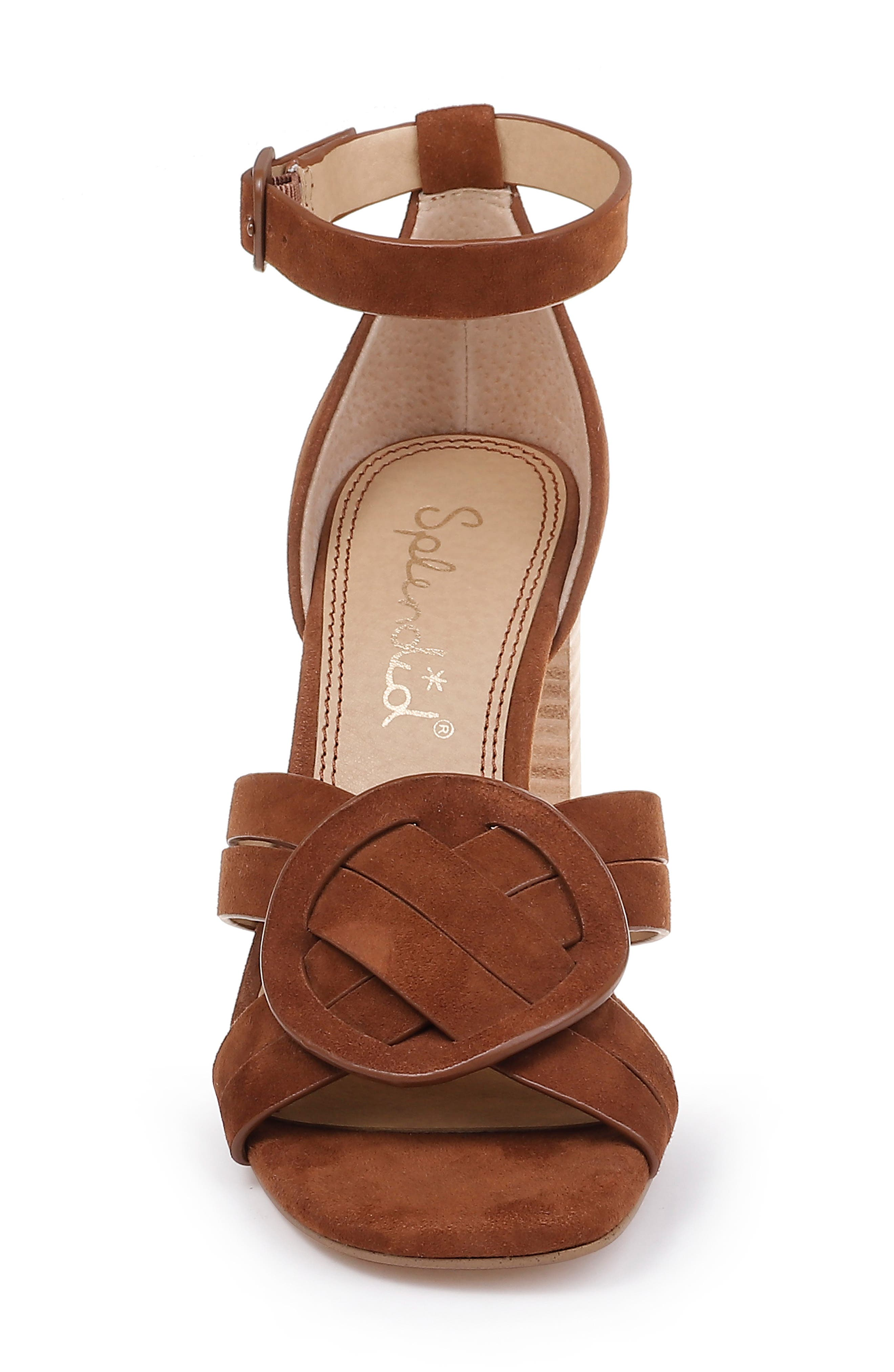 SPLENDID, Tallie Ankle Strap Sandal, Alternate thumbnail 4, color, CHESTNUT SUEDE