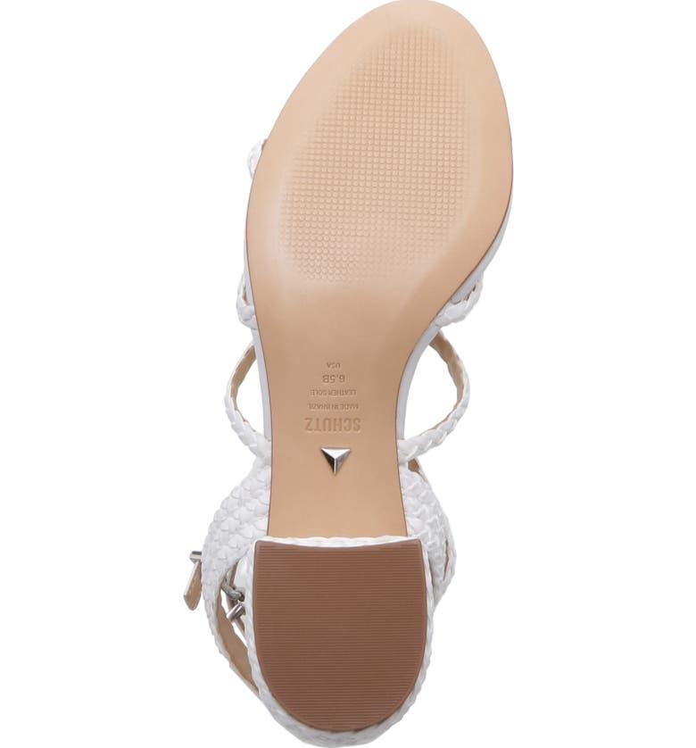 946dce61b Schutz Women s Rosalia Strappy Block-Heel Sandals In White