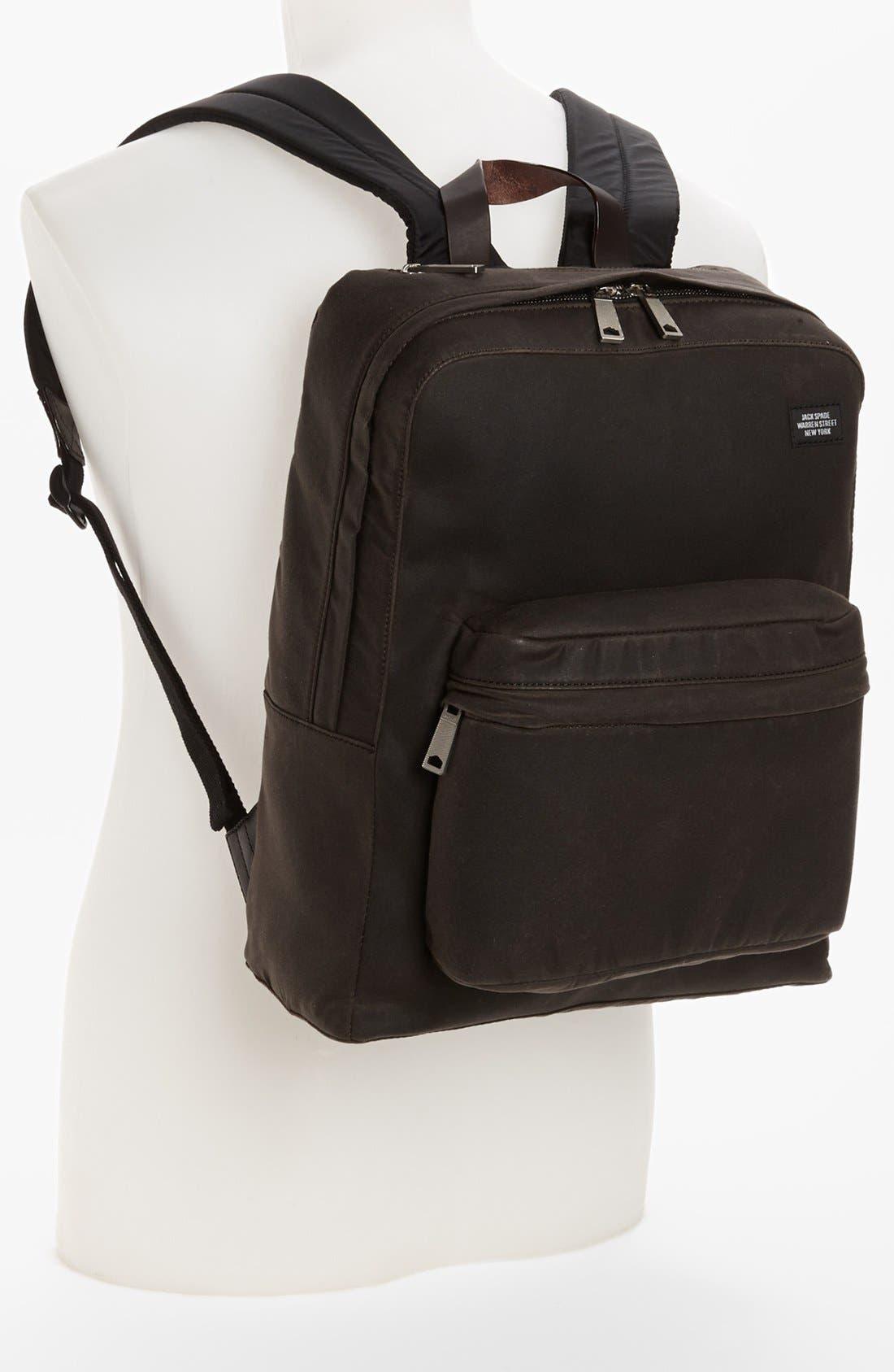 JACK SPADE, 'Waxwear' Backpack, Alternate thumbnail 4, color, 215