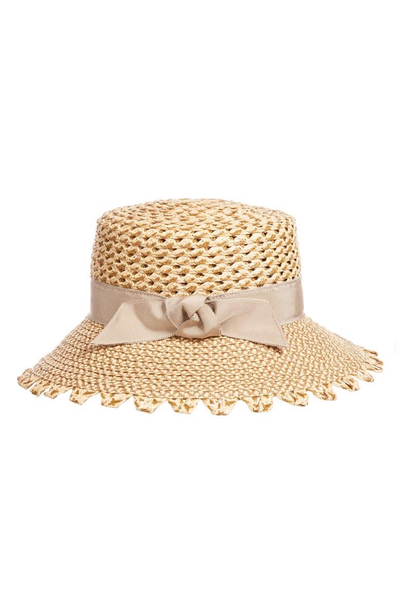 Eric Javits Hats MONTAUK SQUISHEE SUN HAT - BROWN
