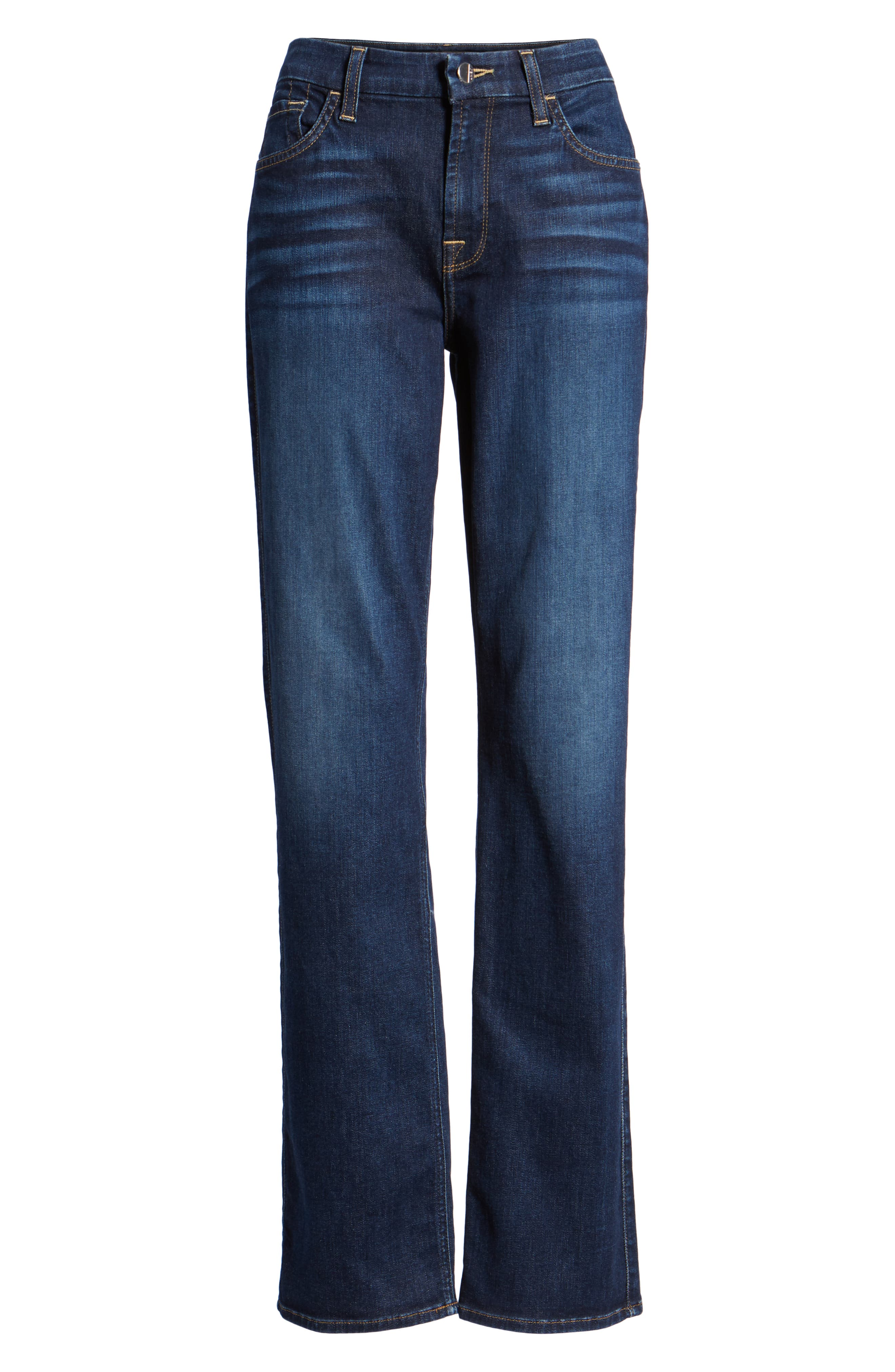 JEN7 BY 7 FOR ALL MANKIND, Stretch Slim Straight Leg Jeans, Alternate thumbnail 7, color, 400