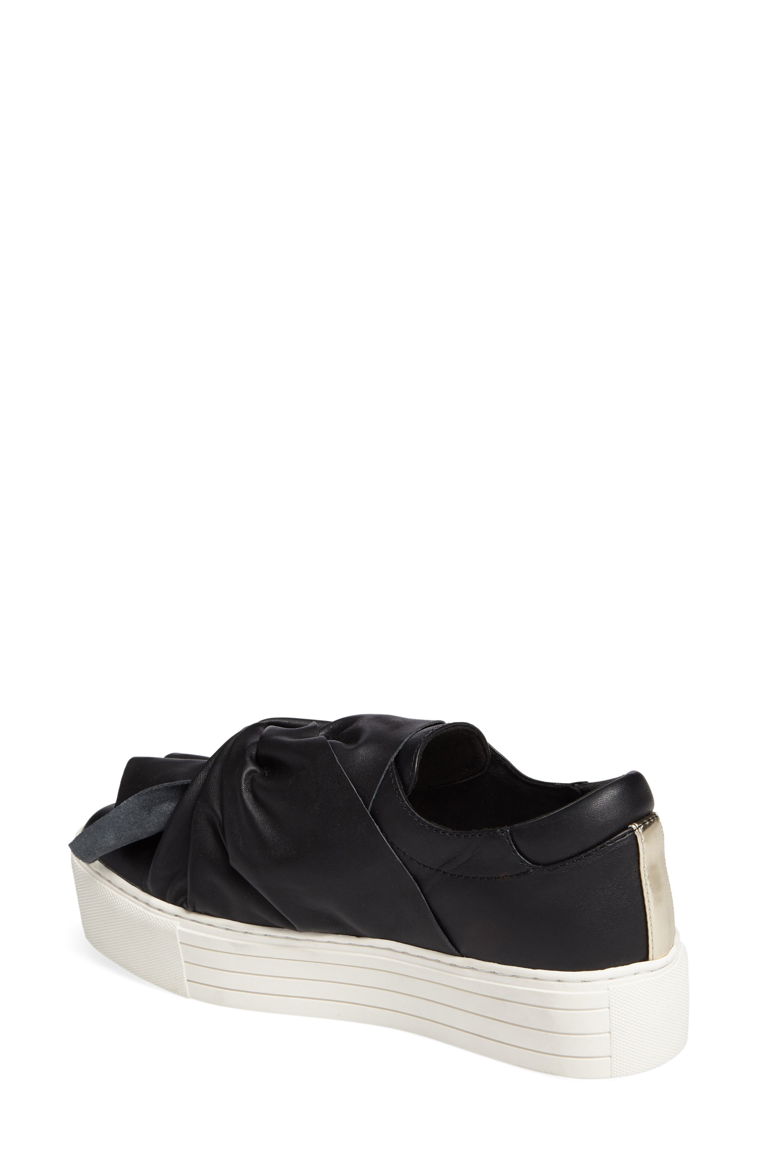 KENNETH COLE NEW YORK, Kenneth Cole Aaron Twisted Knot Flatform Sneaker, Alternate thumbnail 2, color, 001