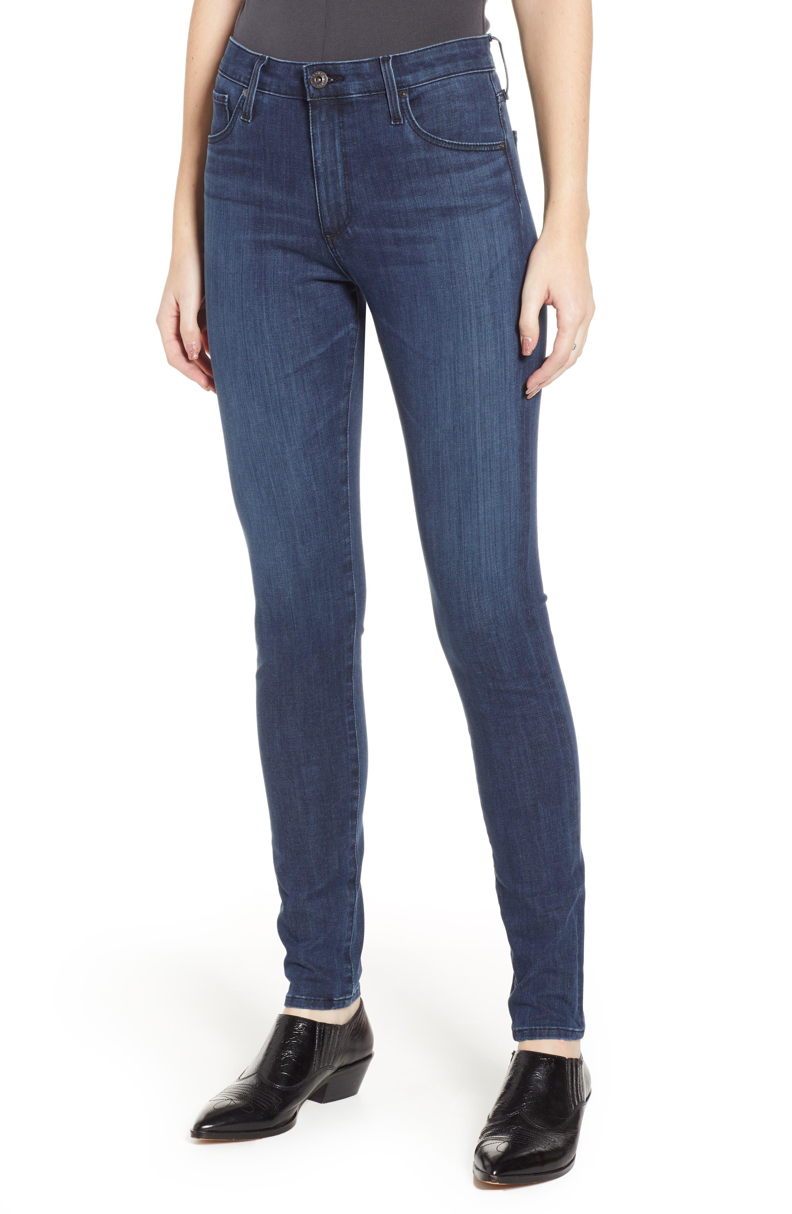 AG The Farrah High Waist Skinny Jeans, Main, color, 430