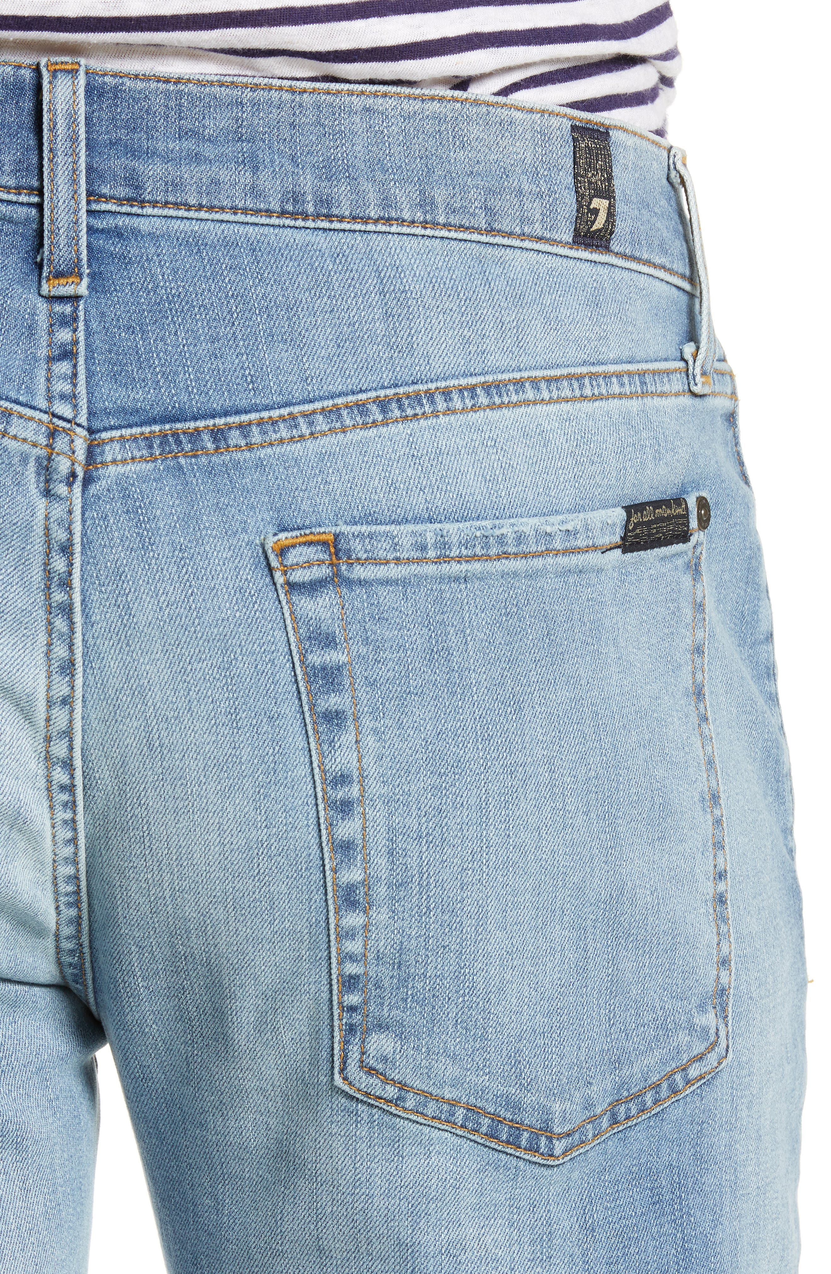 7 FOR ALL MANKIND<SUP>®</SUP>, Adrien Luxe Performance Slim Fit Jeans, Alternate thumbnail 5, color, ZEITGEIST