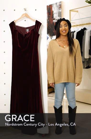 Notch Neck Velvet Off the Shoulder Gown, sales video thumbnail