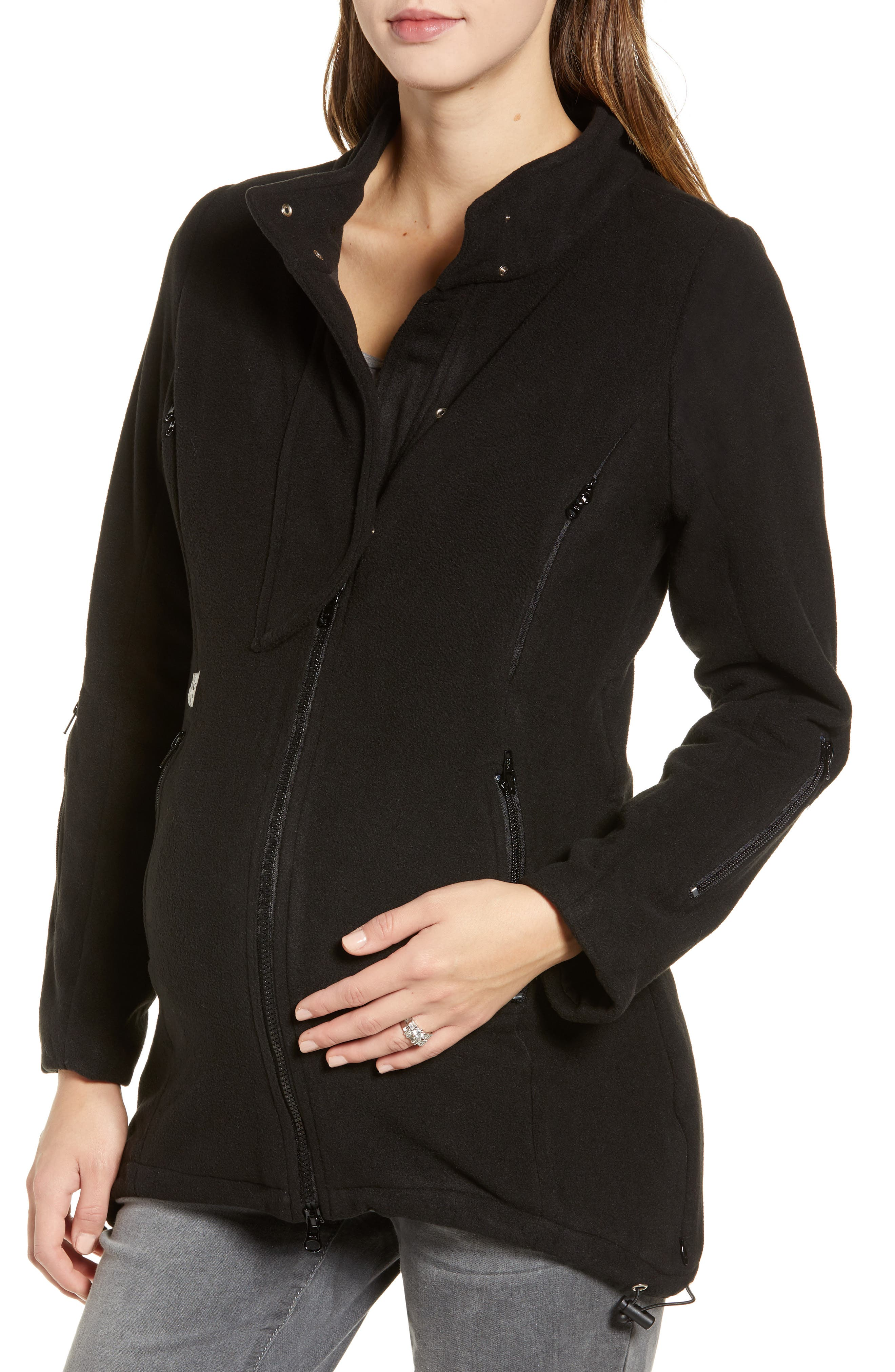 B&ME, Booker Maternity Coat, Main thumbnail 1, color, BLACK