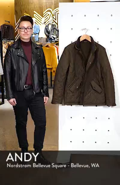 'Powell' Regular Fit Quilted Jacket, sales video thumbnail