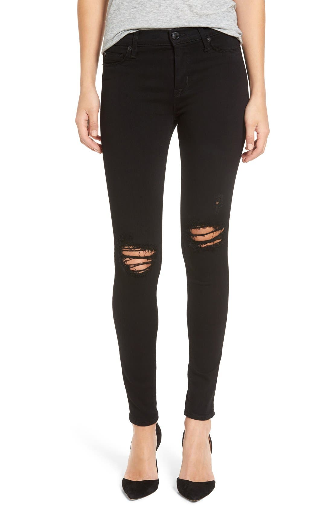 HUDSON JEANS 'Nico' Skinny Jeans, Main, color, 001