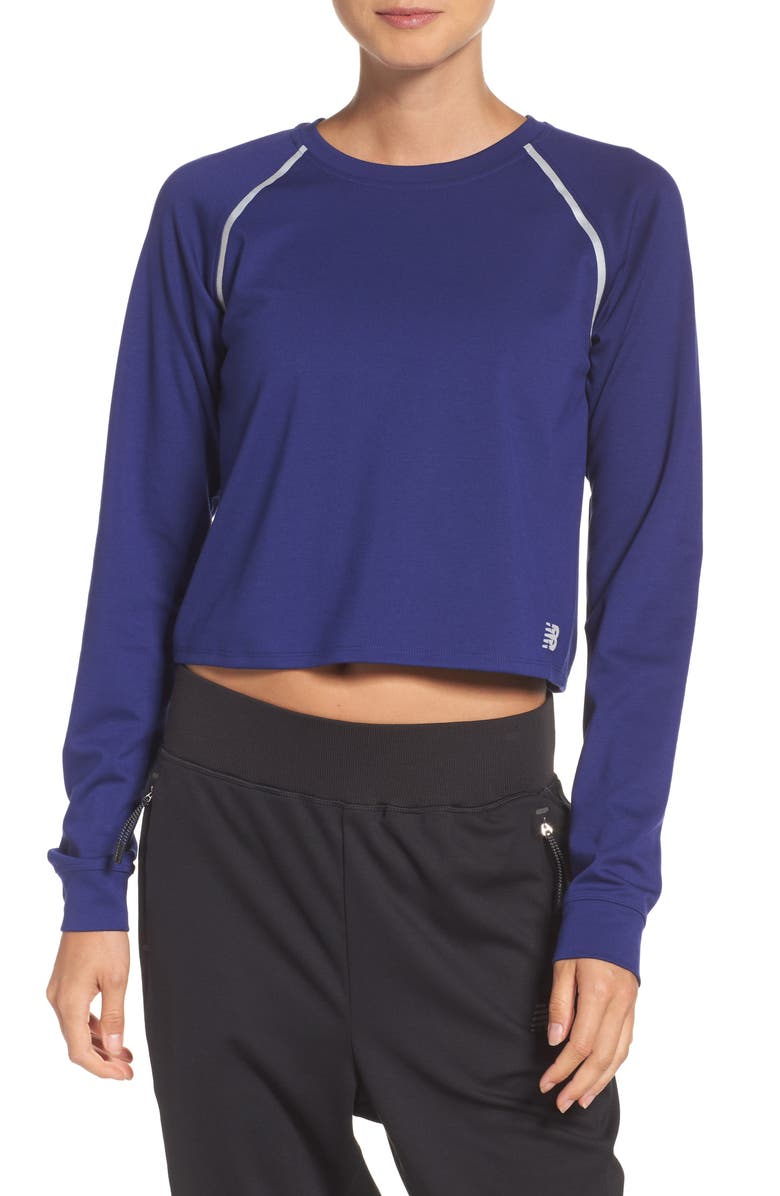 e2405c3d56c08 NEW BALANCE 247 Luxe Crop Tee, Main, color, 396