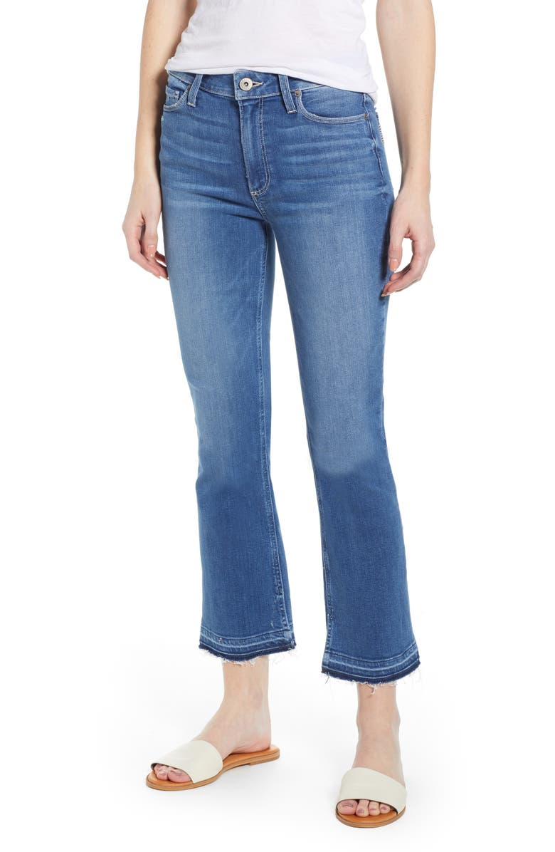 a0226eb8eaf PAIGE Transcend Vintage - Colette High Waist Release Hem Crop Flare Jeans