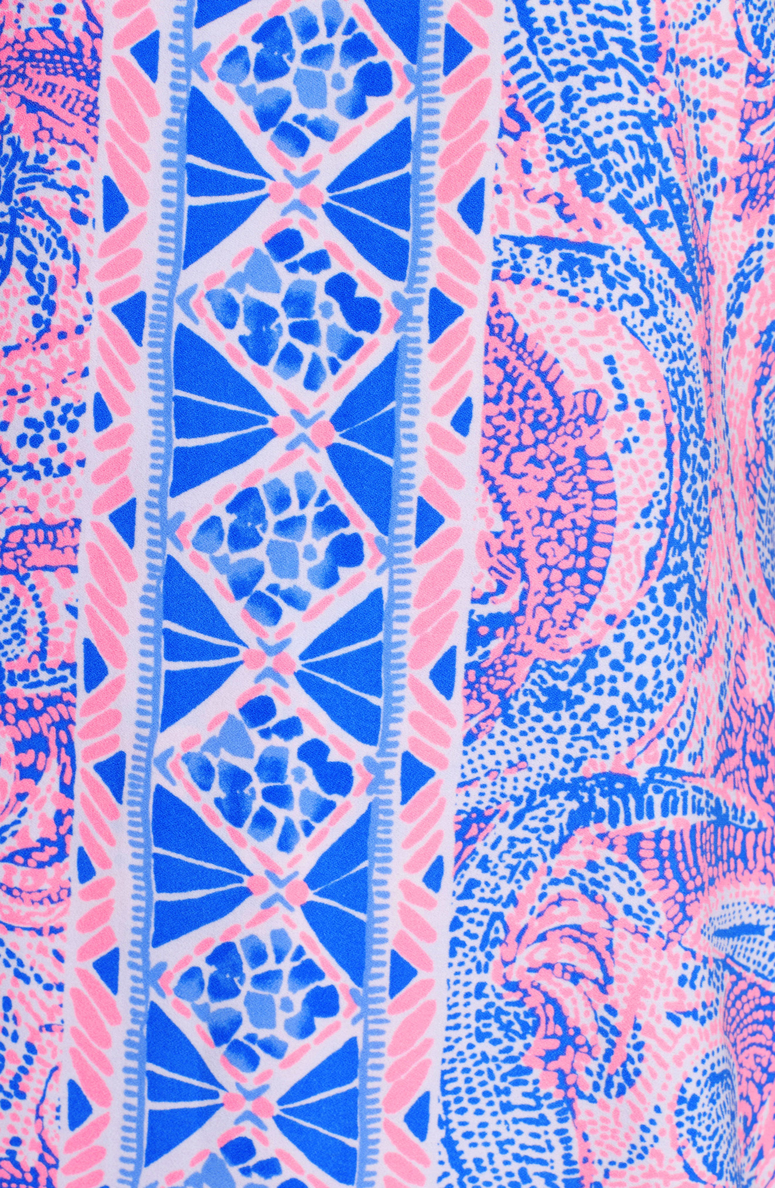 LILLY PULITZER<SUP>®</SUP>, Donna Romper Dress, Alternate thumbnail 5, color, COASTAL BLUE MAYBE GATO