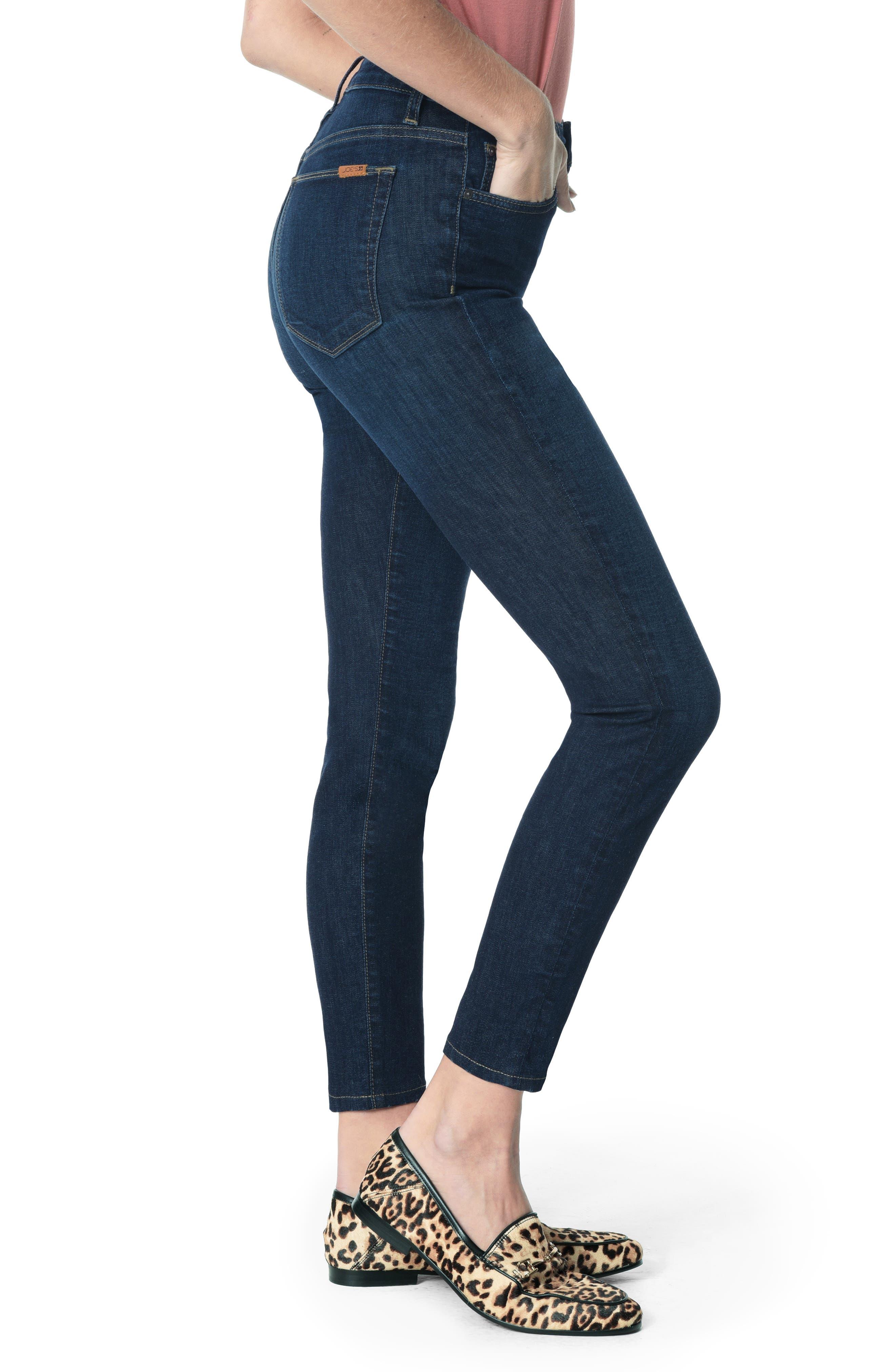 JOE'S, Honey High Waist Ankle Skinny Jeans, Alternate thumbnail 4, color, BRITT