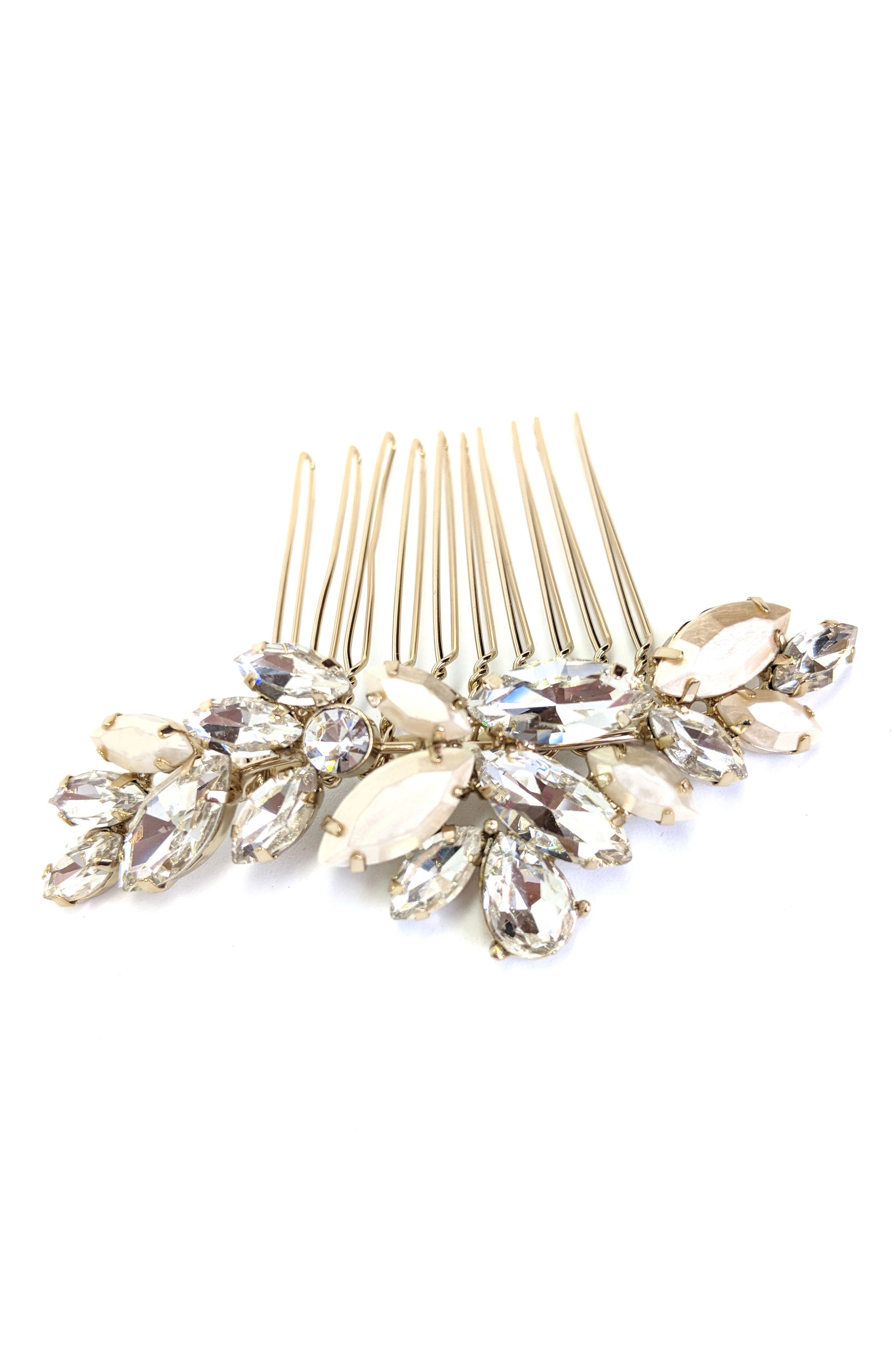 BRIDES & HAIRPINS Abril Comb, Main, color, CLASSIC SILVER