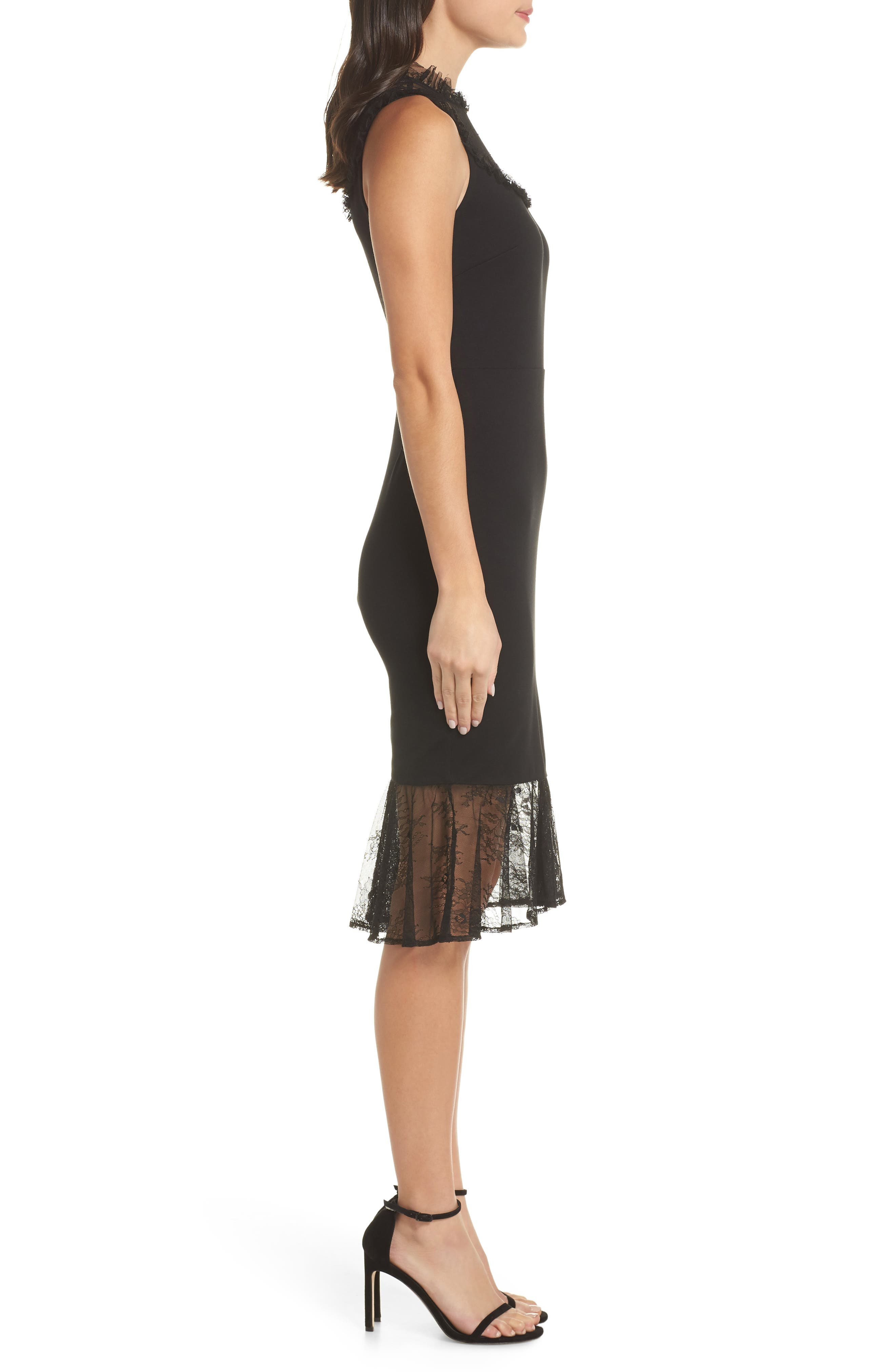 ALI & JAY, Two to Tango Lace Detail Dress, Alternate thumbnail 4, color, 001