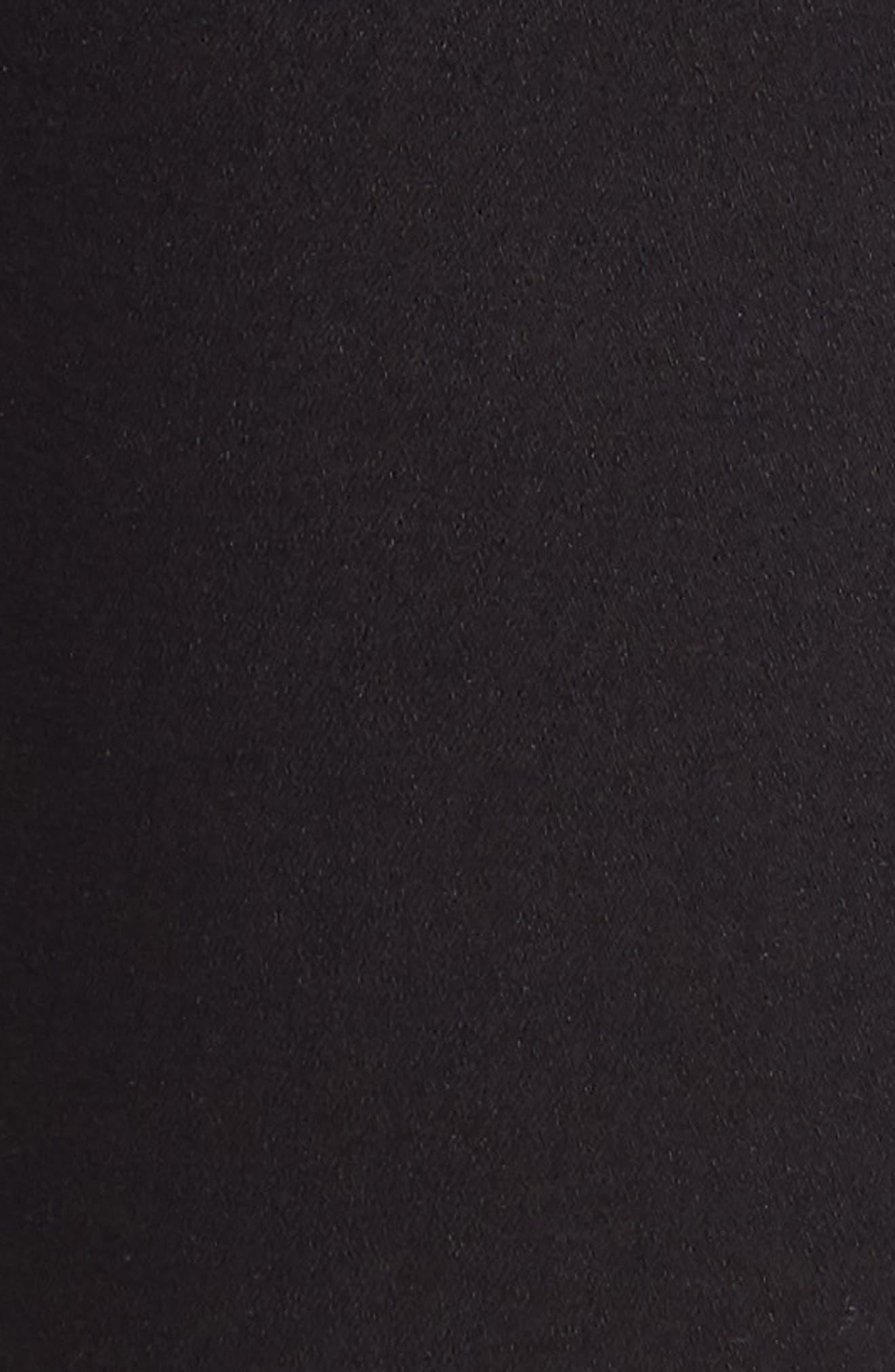 TOPSHOP, Joni Jeans, Alternate thumbnail 6, color, BLACK