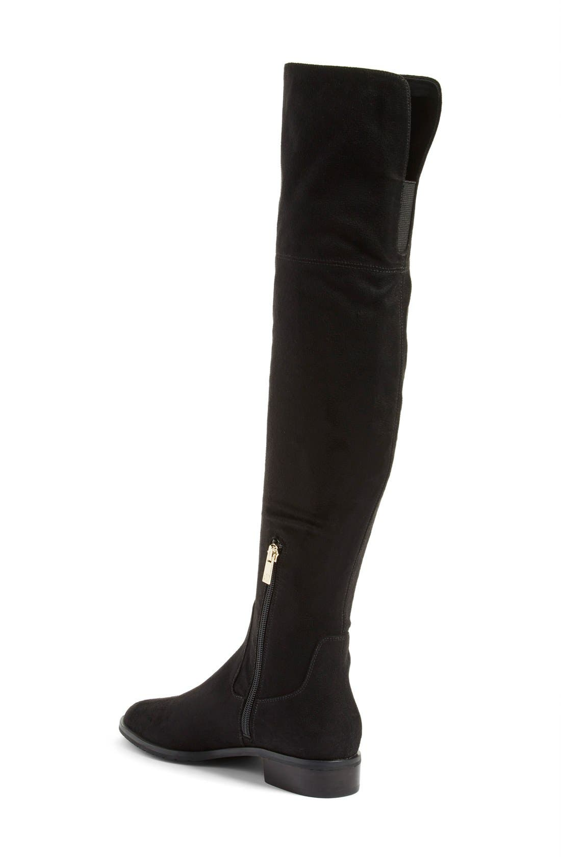 IVANKA TRUMP, 'Luci' Over the Knee Boot, Alternate thumbnail 3, color, 001