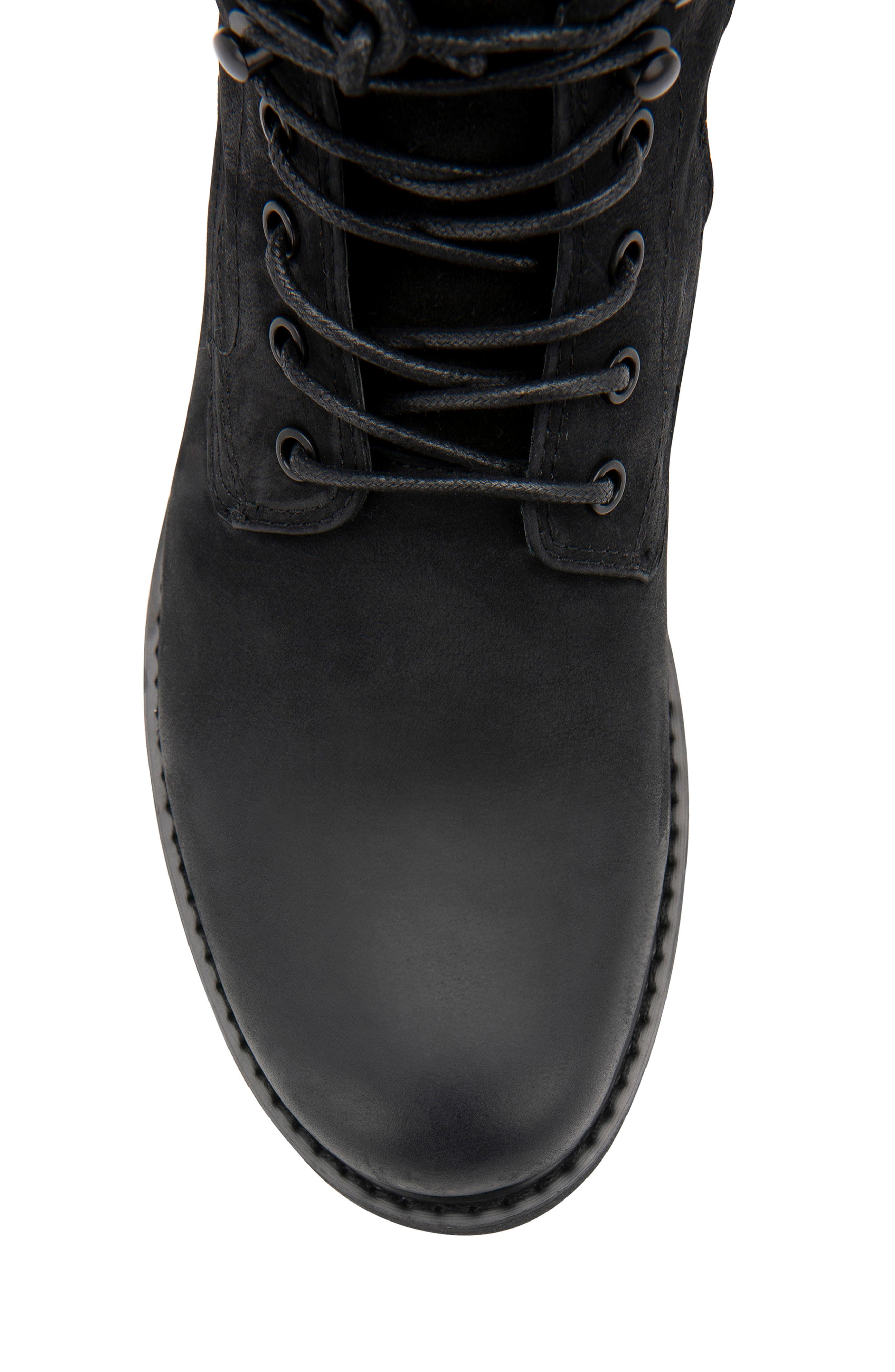 BLONDO, Patton Waterproof Plain Toe Boot, Alternate thumbnail 6, color, BLACK NUBUCK
