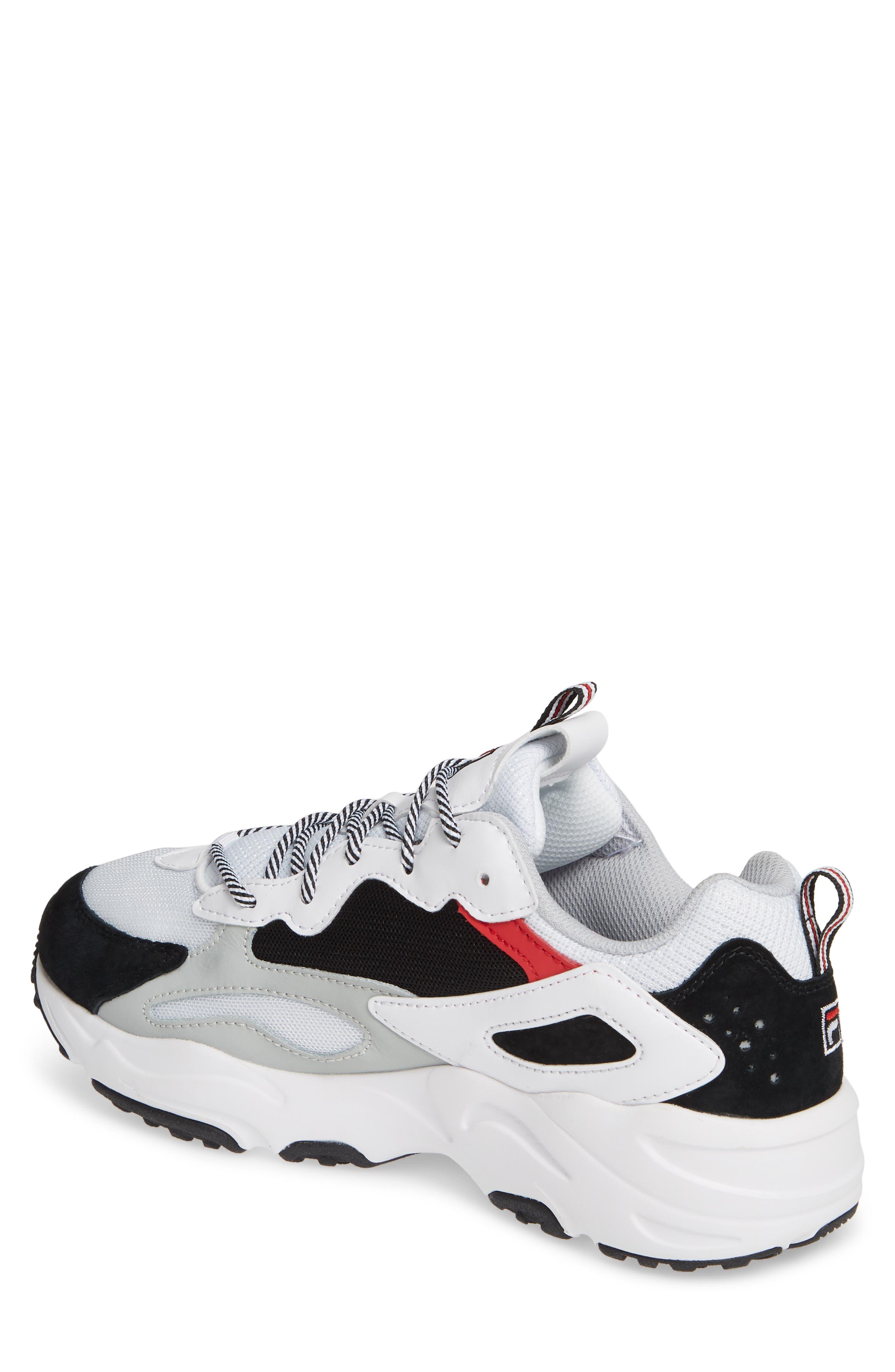 FILA, Ray Tracer Sneaker, Alternate thumbnail 2, color, WHITE/ BLACK