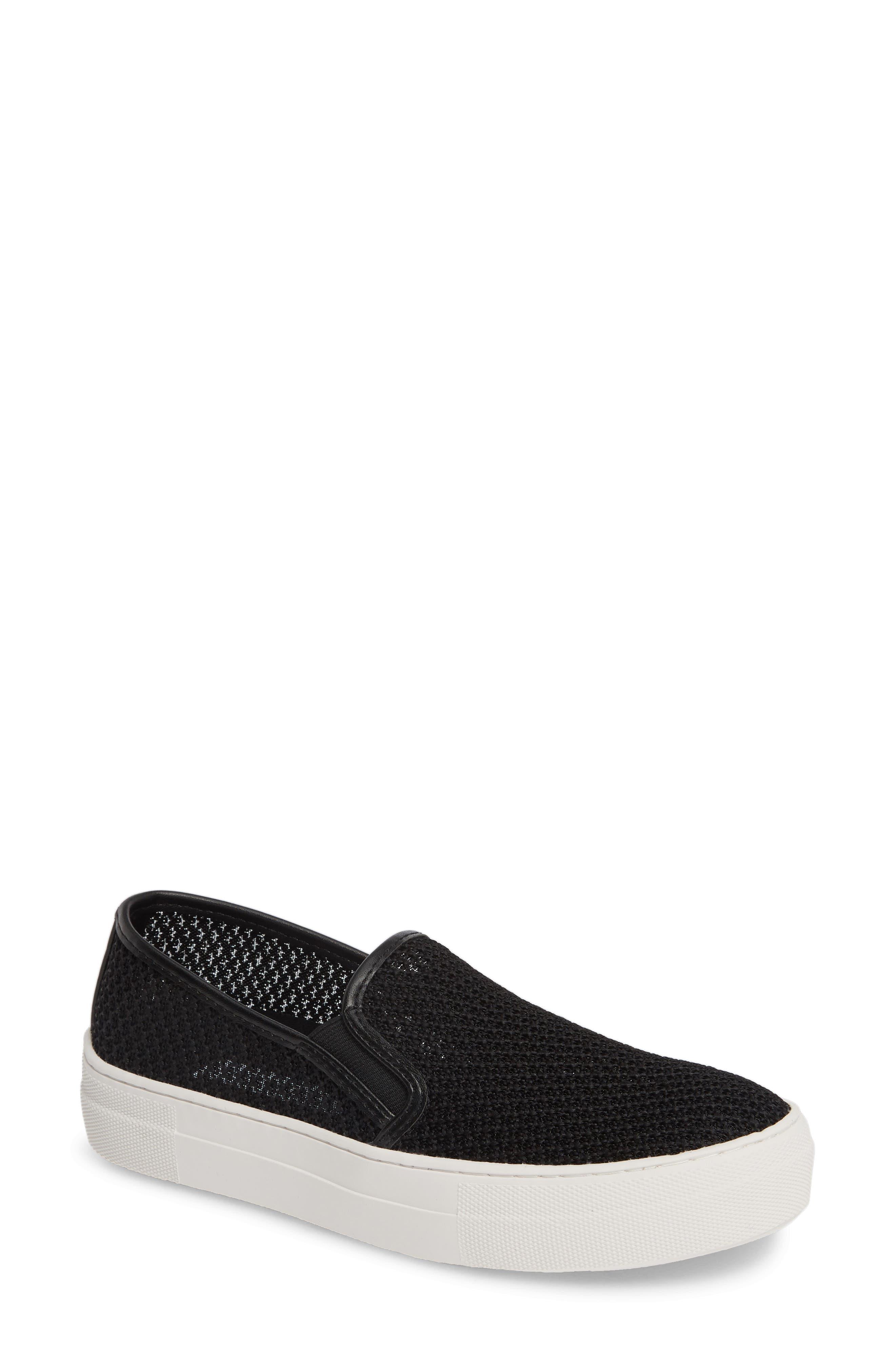 STEVE MADDEN, Gills-M Mesh Slip-On Sneaker, Main thumbnail 1, color, BLACK
