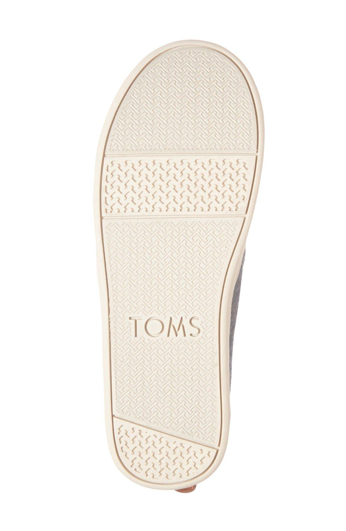 TOMS, 'Bimini' Chambray Slip-On, Alternate thumbnail 4, color, 430