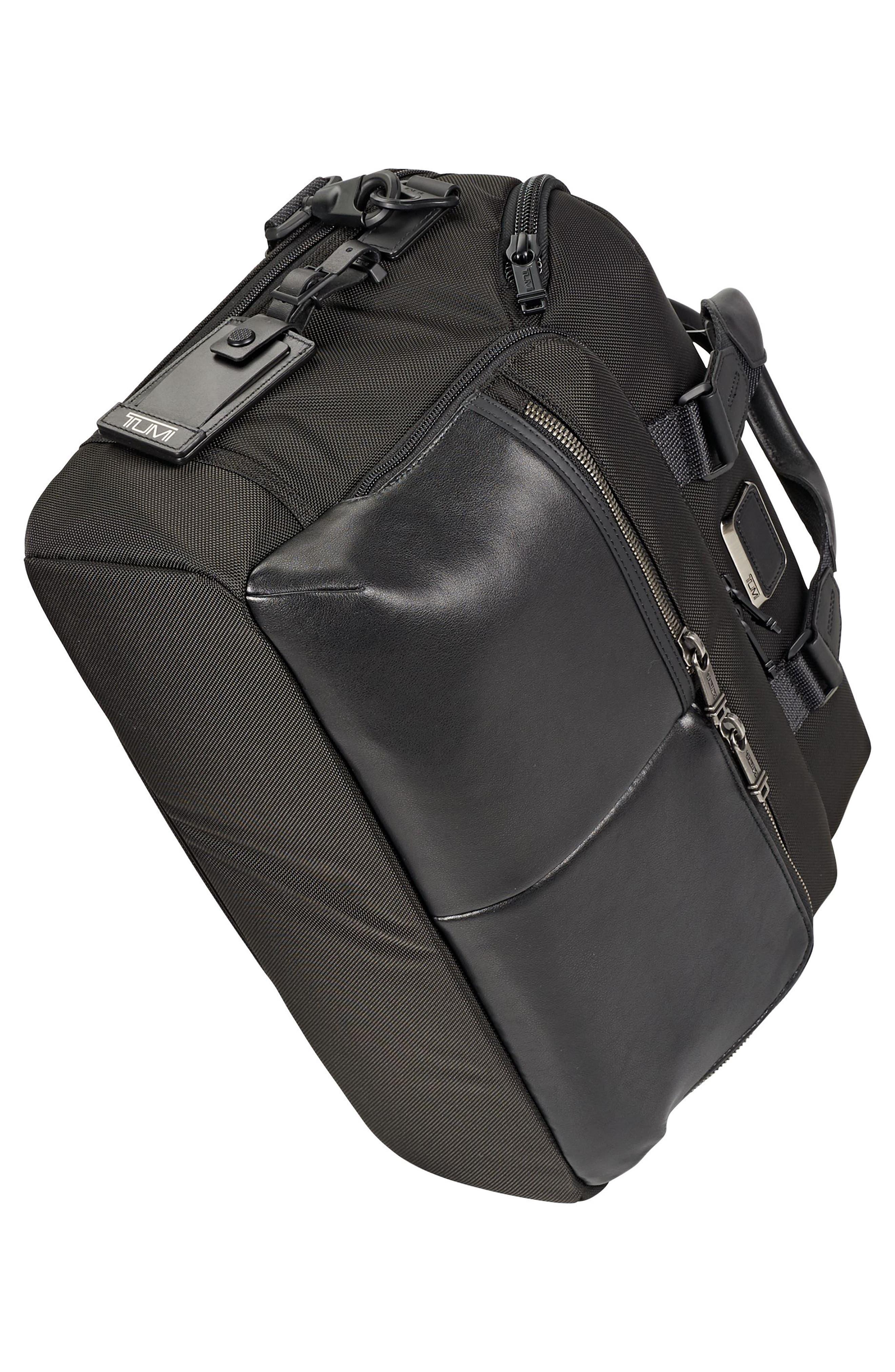 TUMI, Alpha Bravo - Patterson Briefcase, Alternate thumbnail 4, color, BLACK