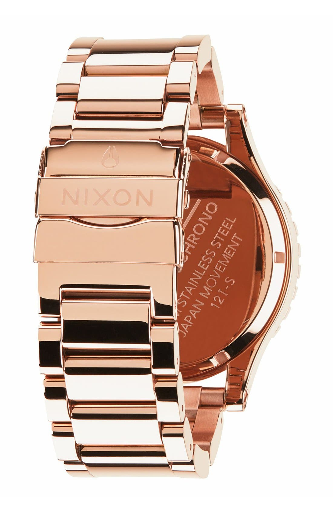 NIXON, 'The 51-30 Chrono' Watch, 51mm, Alternate thumbnail 3, color, ROSE GOLD