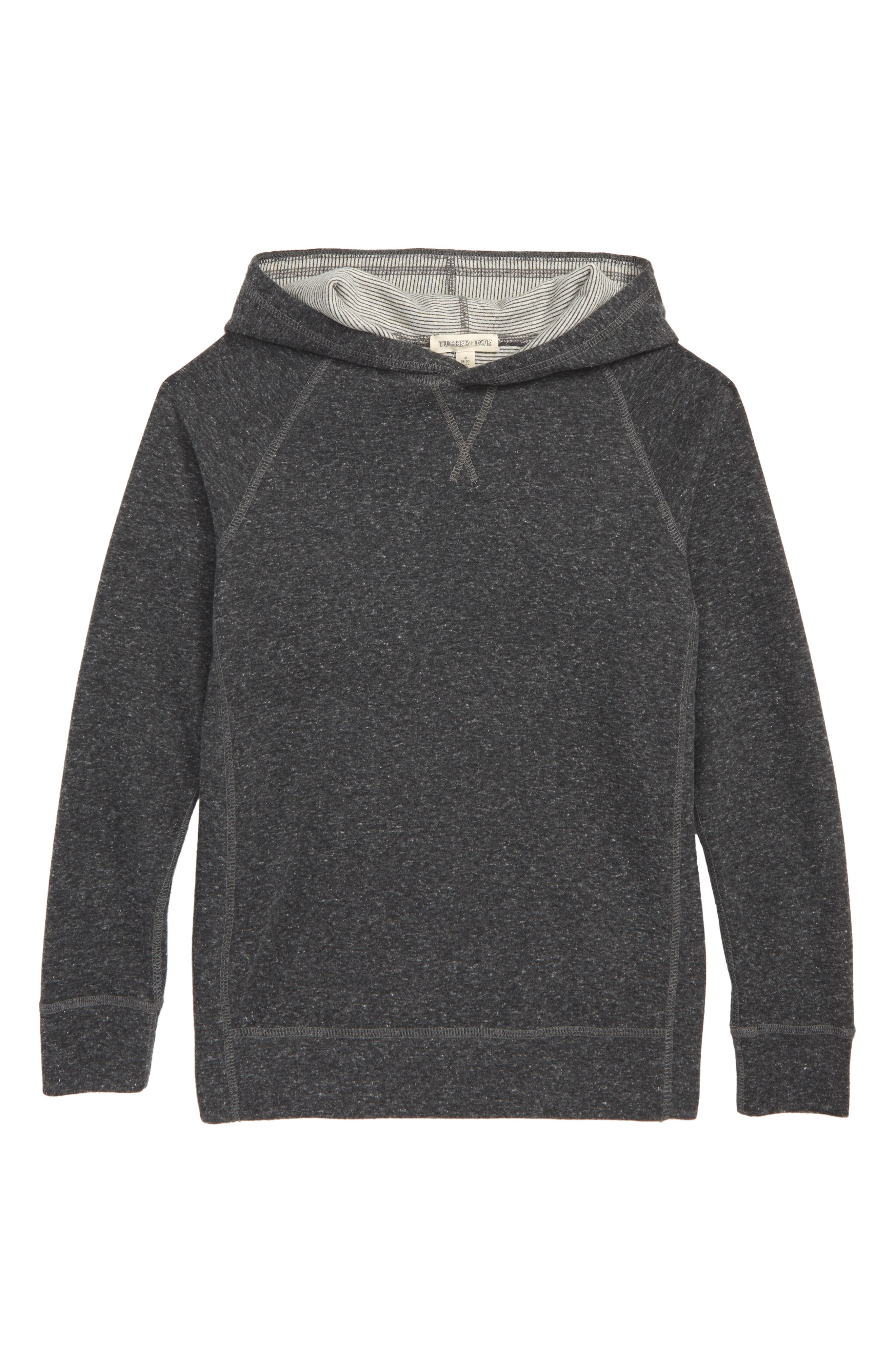 TUCKER + TATE Double Knit Hoodie, Main, color, GREY CHARCOAL HEATHER