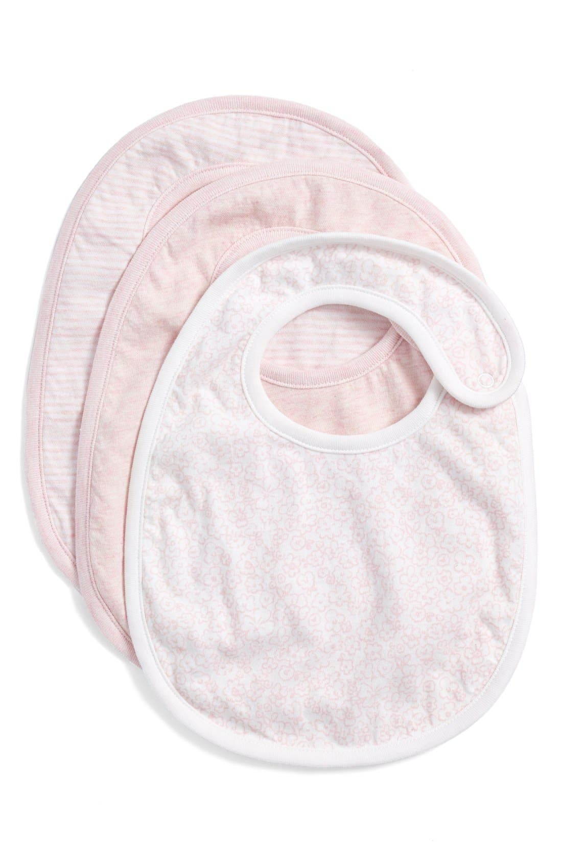NORDSTROM BABY, Bibs, Main thumbnail 1, color, PINK BABY PACK