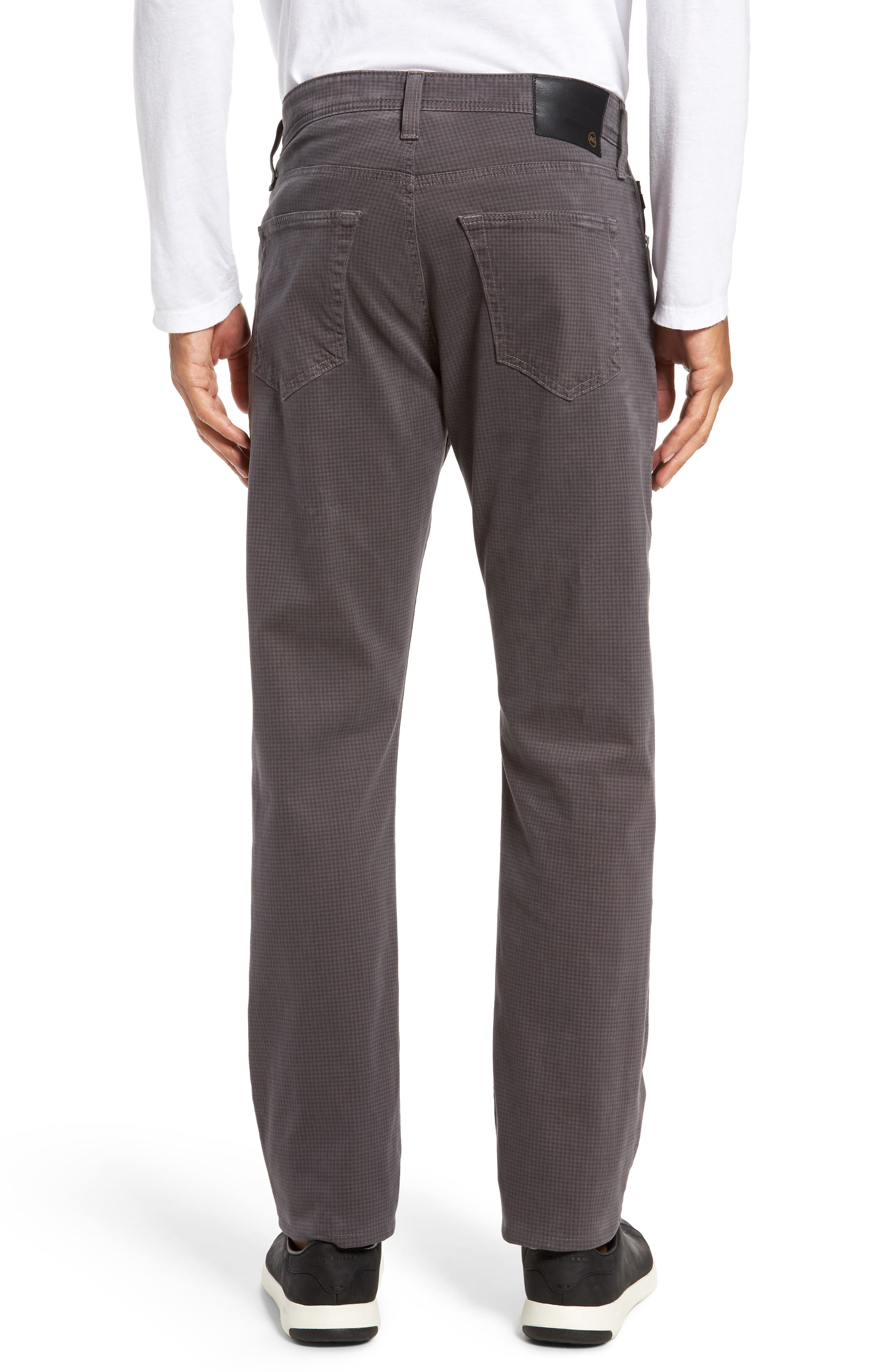AG, Everett SUD Print Slim Straight Leg Pants, Alternate thumbnail 2, color, NO_COLOR
