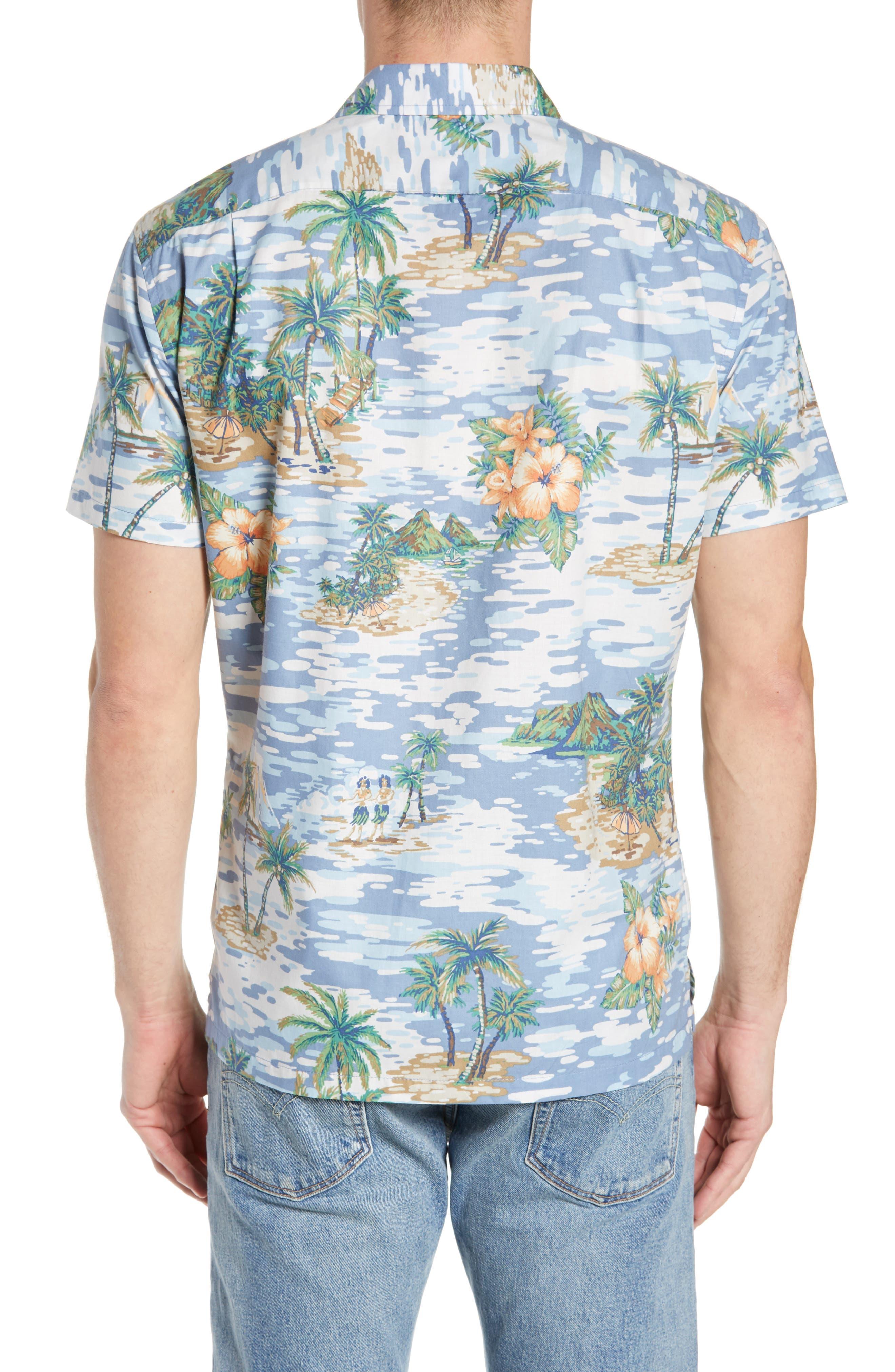 TORI RICHARD, Archipelago Regular Fit Sport Shirt, Alternate thumbnail 3, color, 061