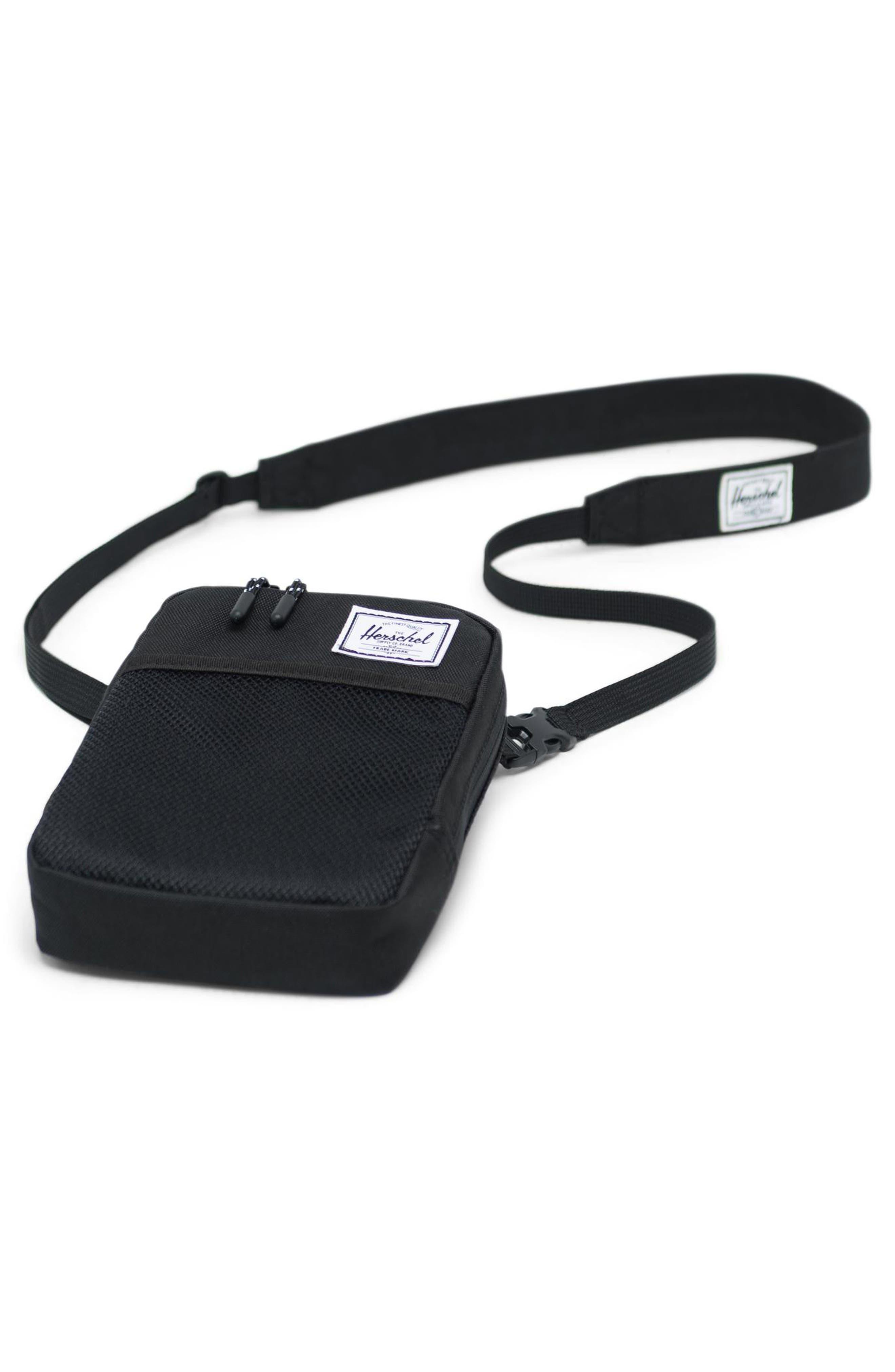 HERSCHEL SUPPLY CO., Large Sinclair Crossbody Bag, Alternate thumbnail 3, color, BLACK